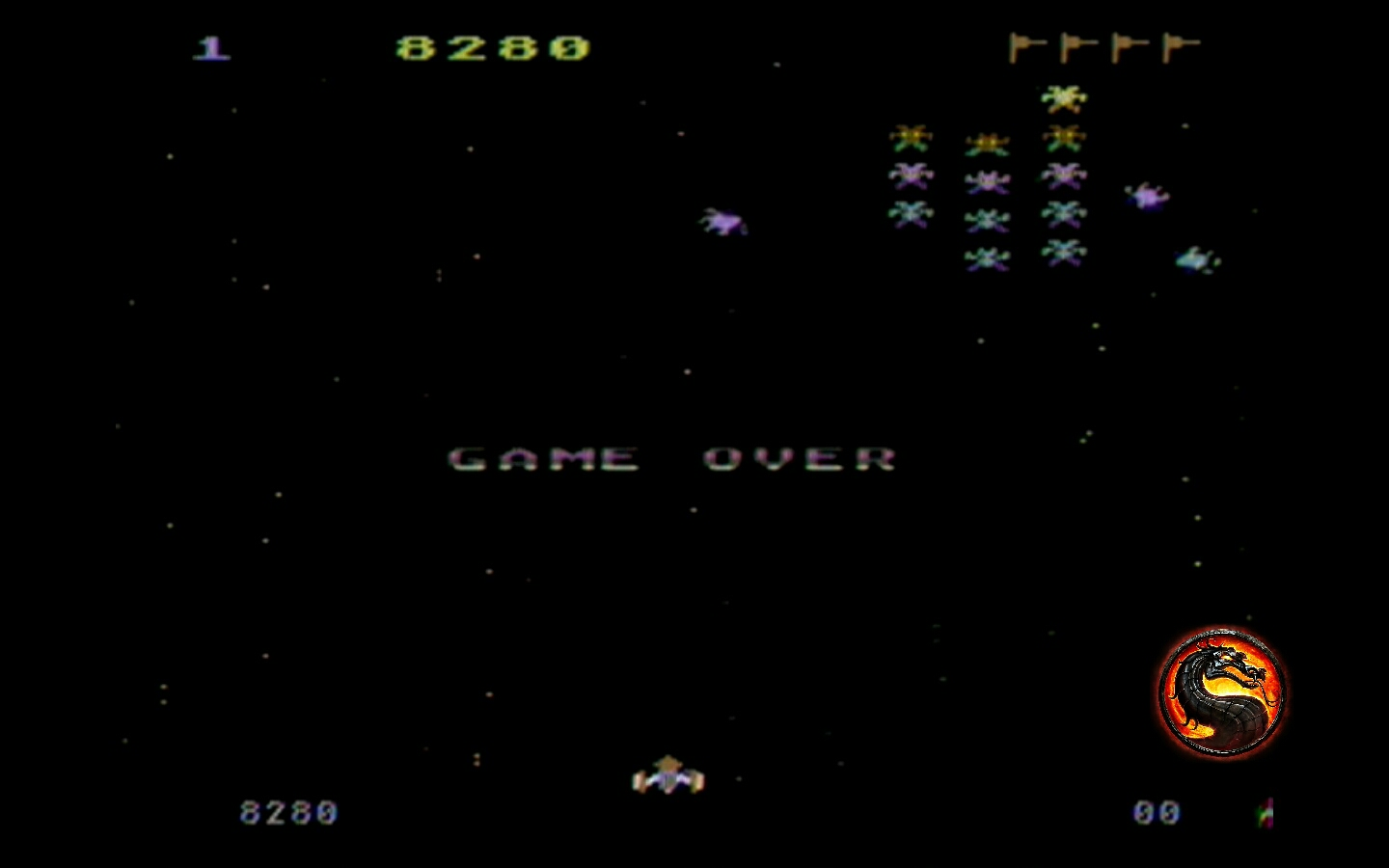 omargeddon: Galaxian [Difficulty: 1] (Atari 400/800/XL/XE) 8,280 points on 2019-12-18 15:18:22