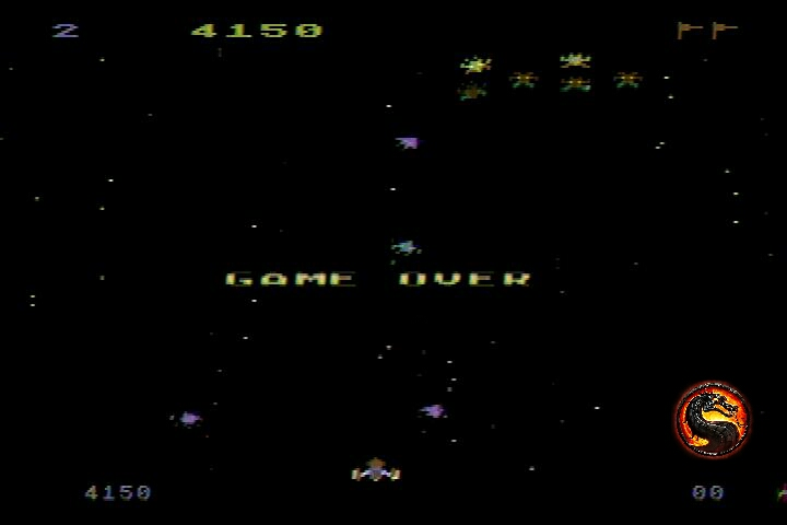 omargeddon: Galaxian [Difficulty: 2] (Atari 400/800/XL/XE) 4,150 points on 2019-12-18 15:19:01
