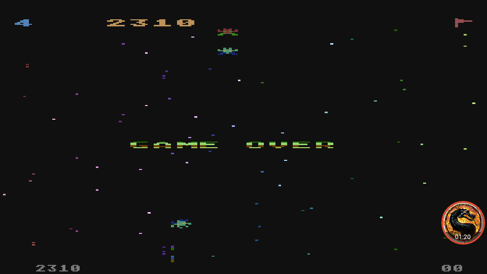omargeddon: Galaxian [Difficulty: 4] (Atari 400/800/XL/XE Emulated) 2,310 points on 2019-12-09 12:23:11