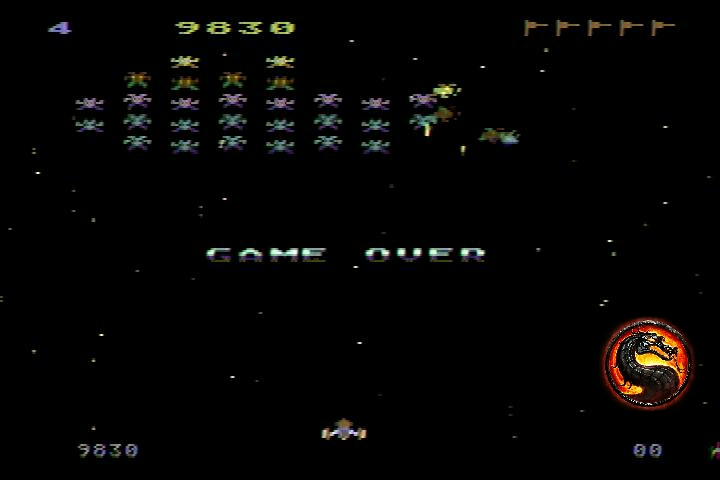 omargeddon: Galaxian [Difficulty: 4] (Atari 400/800/XL/XE) 9,830 points on 2019-12-18 15:20:33