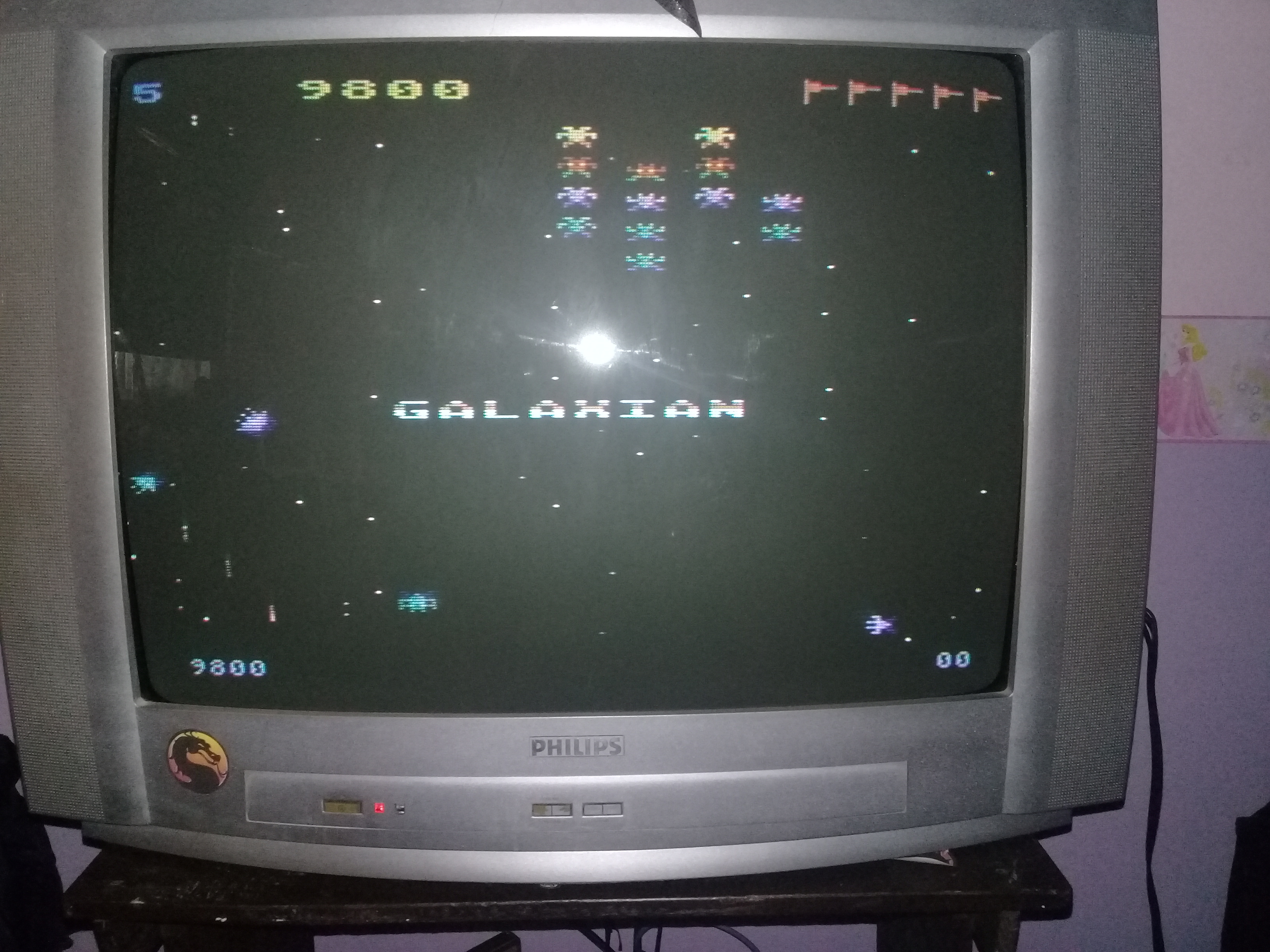omargeddon: Galaxian [Difficulty: 5] (Atari 400/800/XL/XE) 9,800 points on 2020-03-30 12:01:34