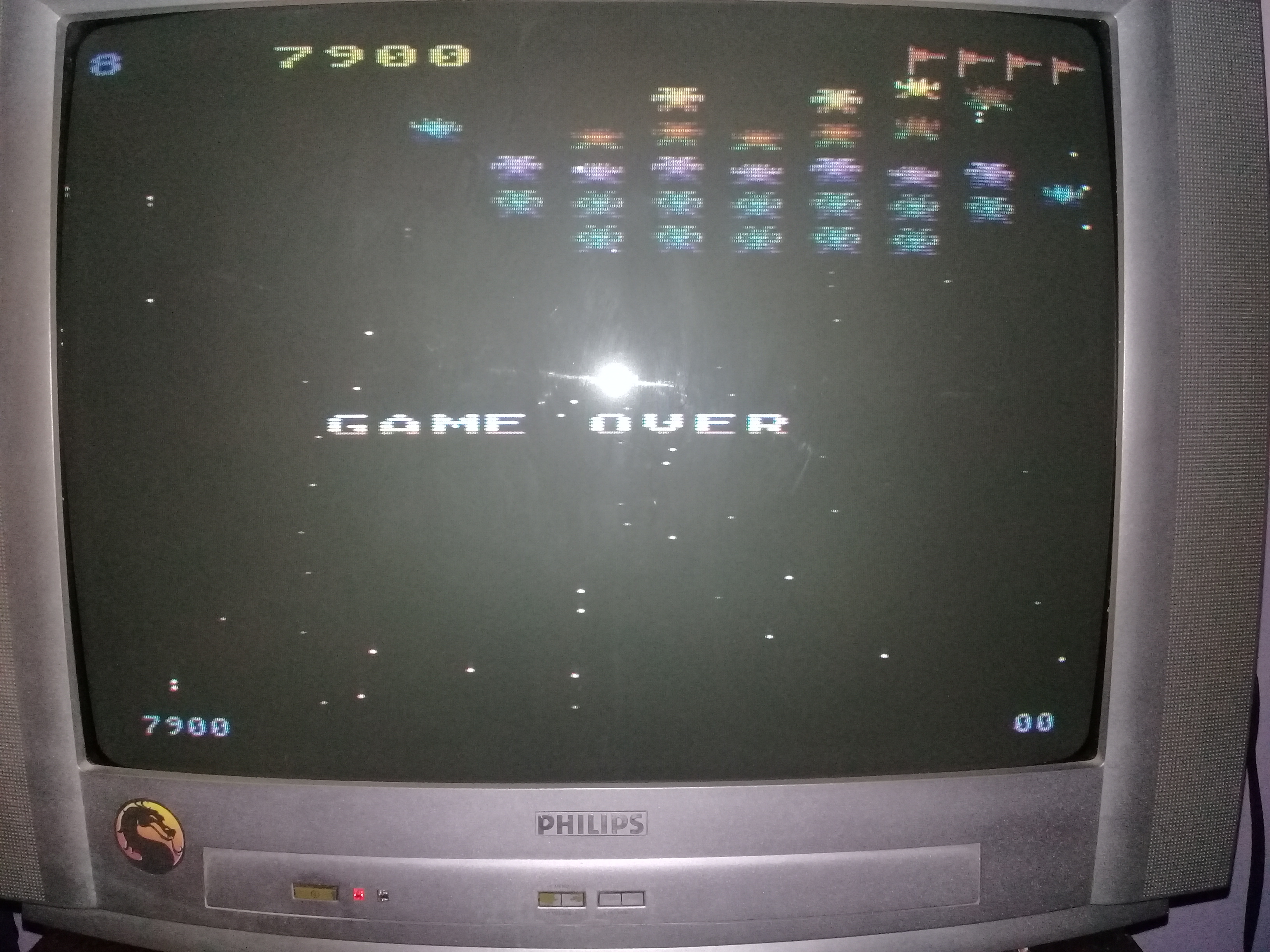 omargeddon: Galaxian [Difficulty: 8] (Atari 400/800/XL/XE) 7,900 points on 2020-03-31 01:22:33