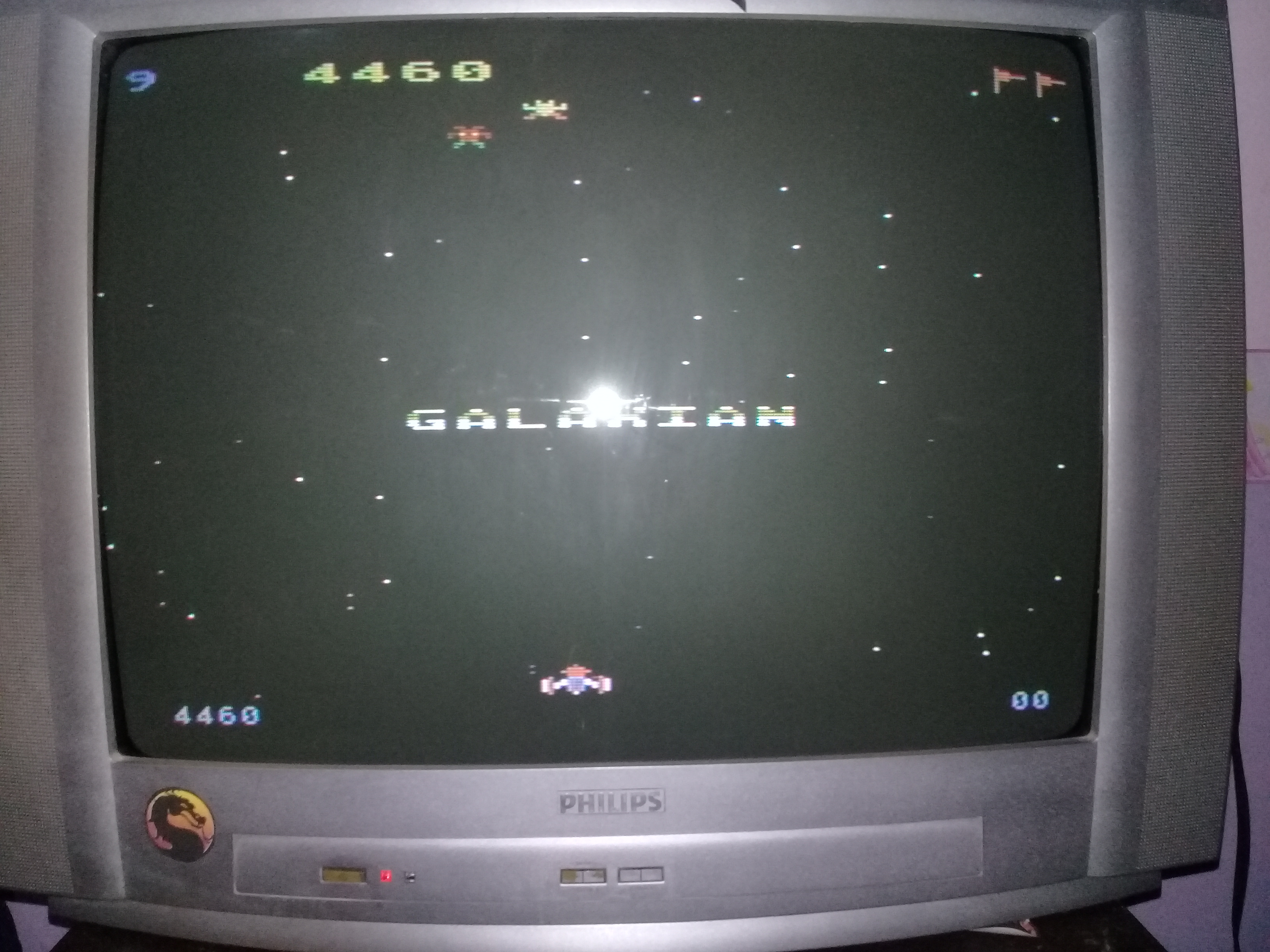 omargeddon: Galaxian [Difficulty: 9] (Atari 400/800/XL/XE) 4,460 points on 2020-03-31 01:26:54