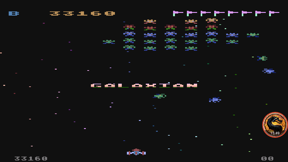 omargeddon: Galaxian [Difficulty: B] (Atari 400/800/XL/XE Emulated) 33,160 points on 2019-12-09 12:27:52