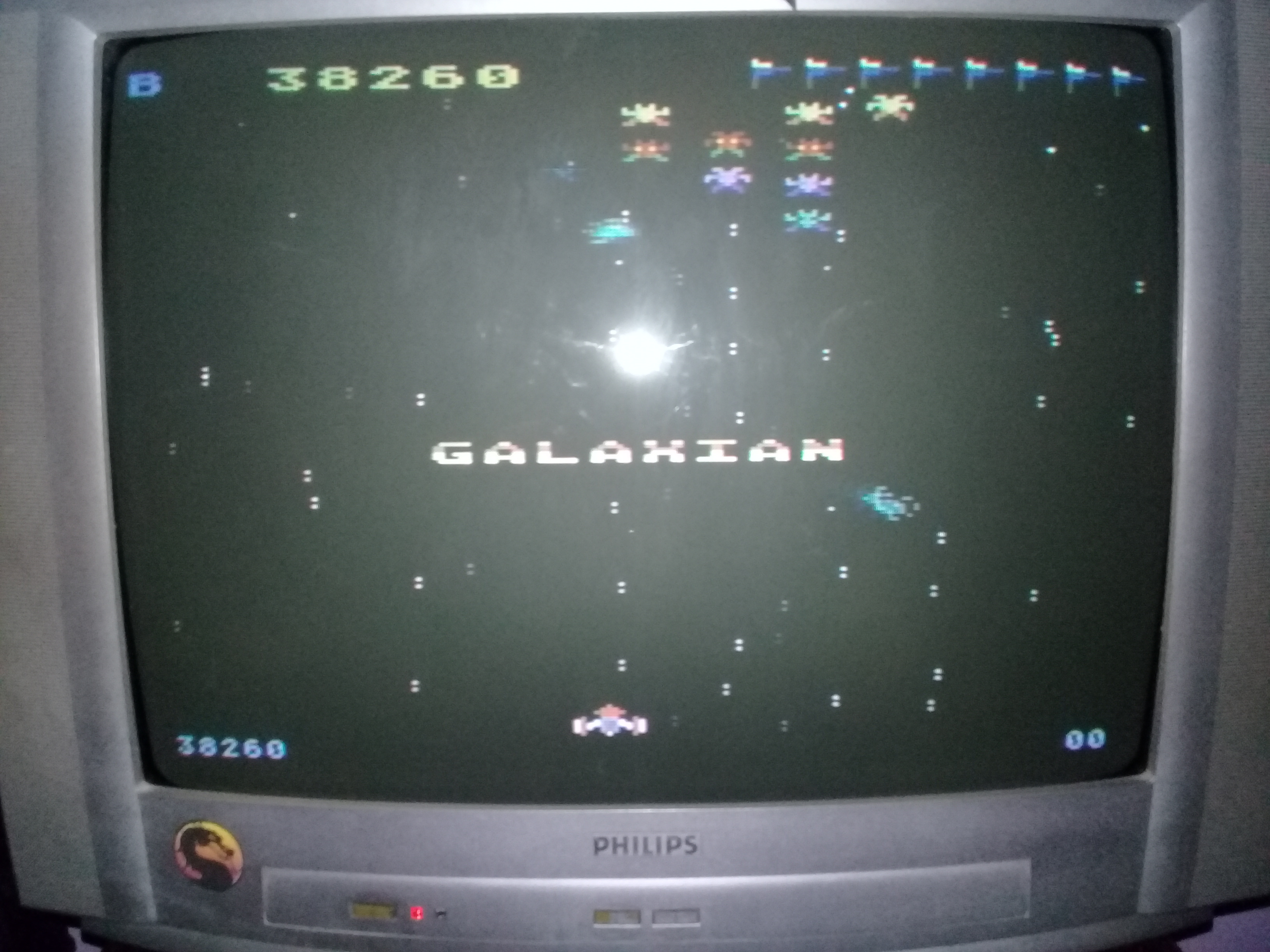 omargeddon: Galaxian [Difficulty: B] (Atari 400/800/XL/XE) 38,260 points on 2020-03-31 01:40:55