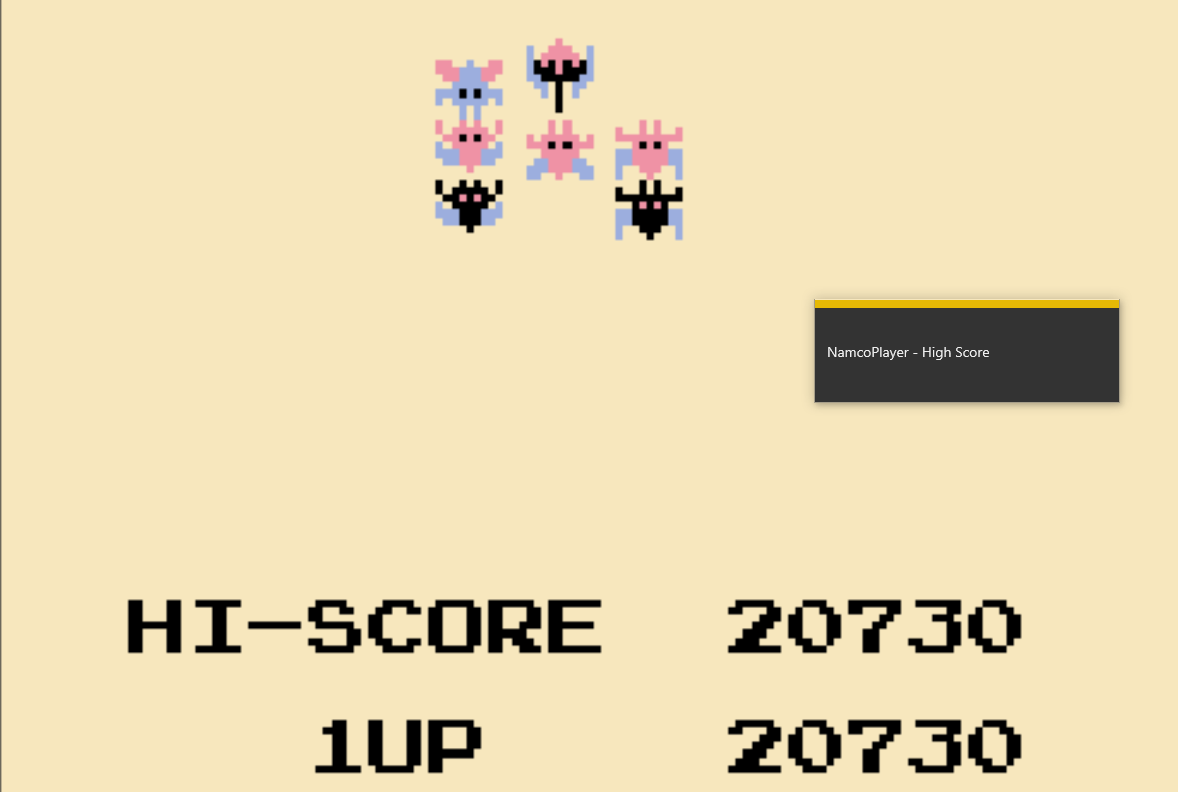 NamcoPlayer: Galaxian (Game Boy Emulated) 20,730 points on 2020-10-27 13:51:49