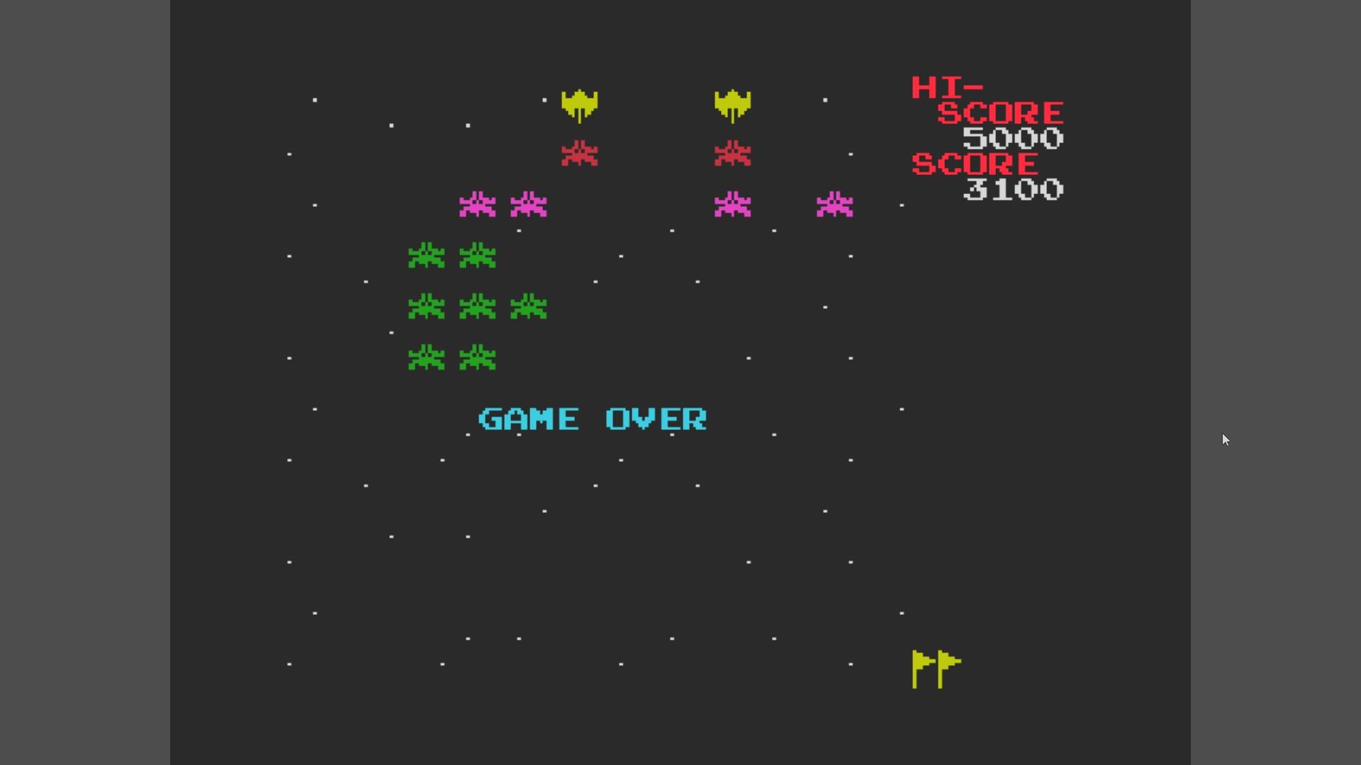 AkinNahtanoj: Galaxian (MSX Emulated) 3,100 points on 2020-10-17 12:24:55