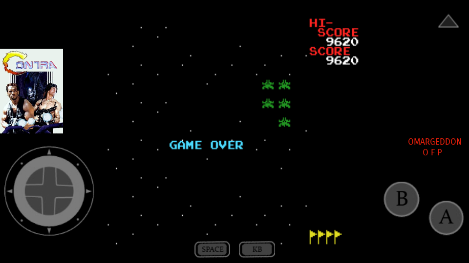 omargeddon: Galaxian (MSX Emulated) 9,620 points on 2017-07-23 23:57:32