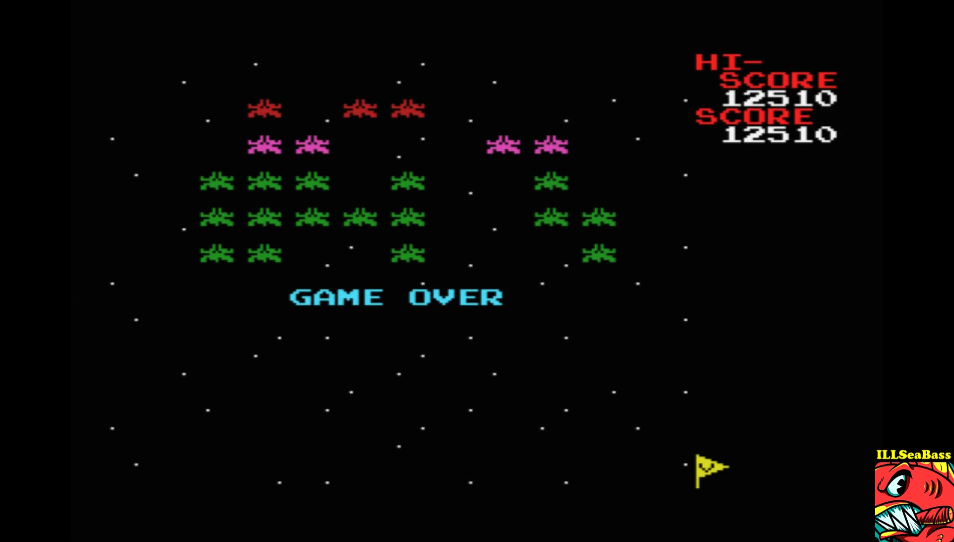 ILLSeaBass: Galaxian (MSX Emulated) 12,510 points on 2017-07-24 21:06:14