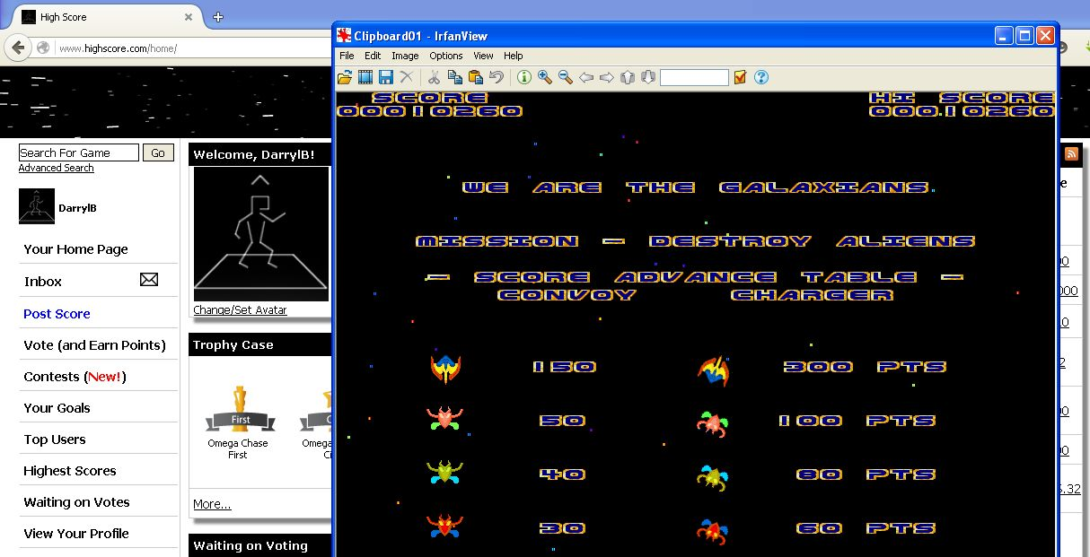 Galaxian [Minion Software] 10,260 points