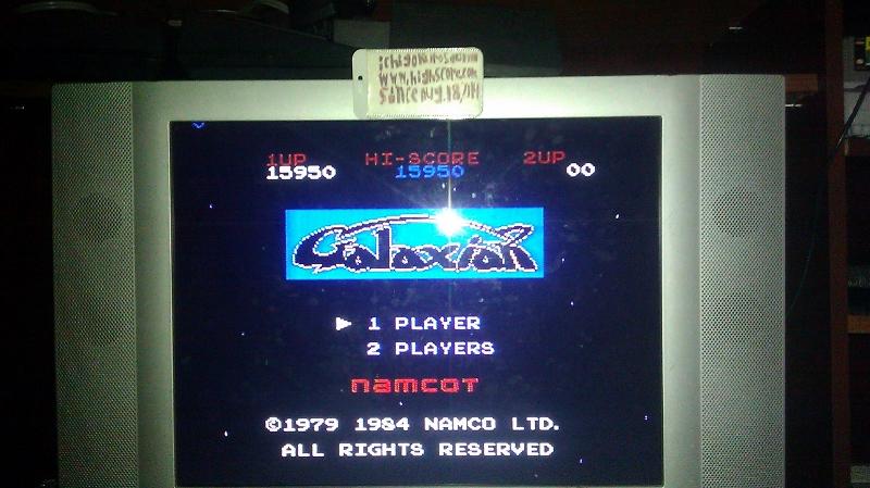 Galaxian 15,950 points