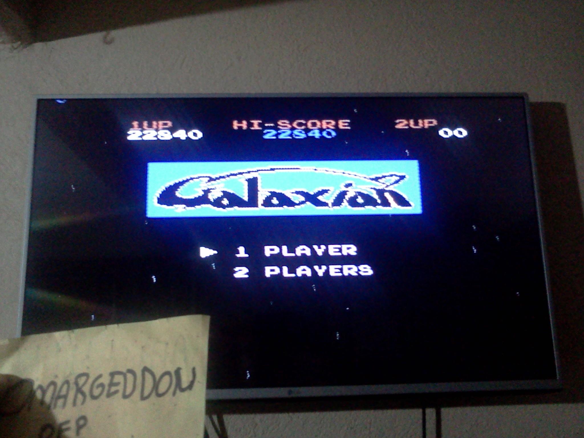 Galaxian 22,840 points