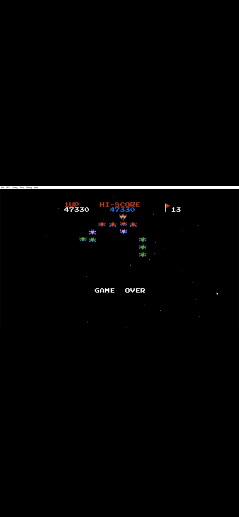 TheSyrinx63: Galaxian (NES/Famicom Emulated) 47,330 points on 2019-12-09 19:22:39