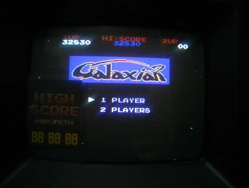 Galaxian 32,830 points
