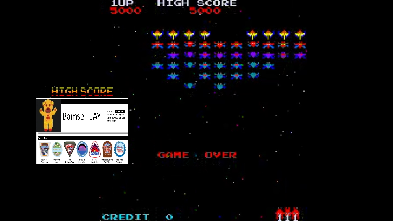Bamse: Galaxian Part 4 [galap4] (Arcade Emulated / M.A.M.E.) 5,000 points on 2019-11-11 16:23:00