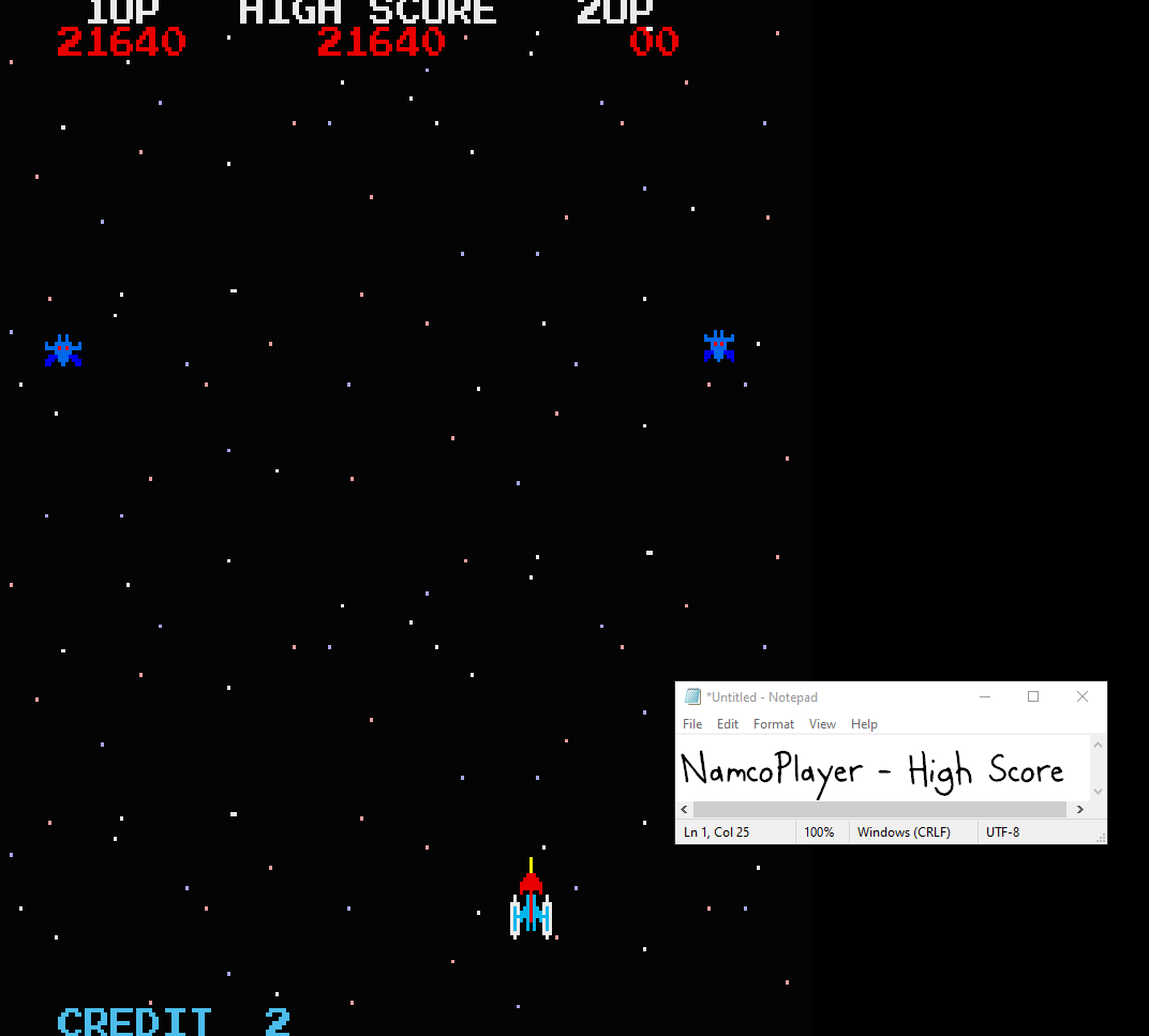 NamcoPlayer: Galaxian (Sharp X68000 Emulated) 21,640 points on 2020-10-08 16:33:04