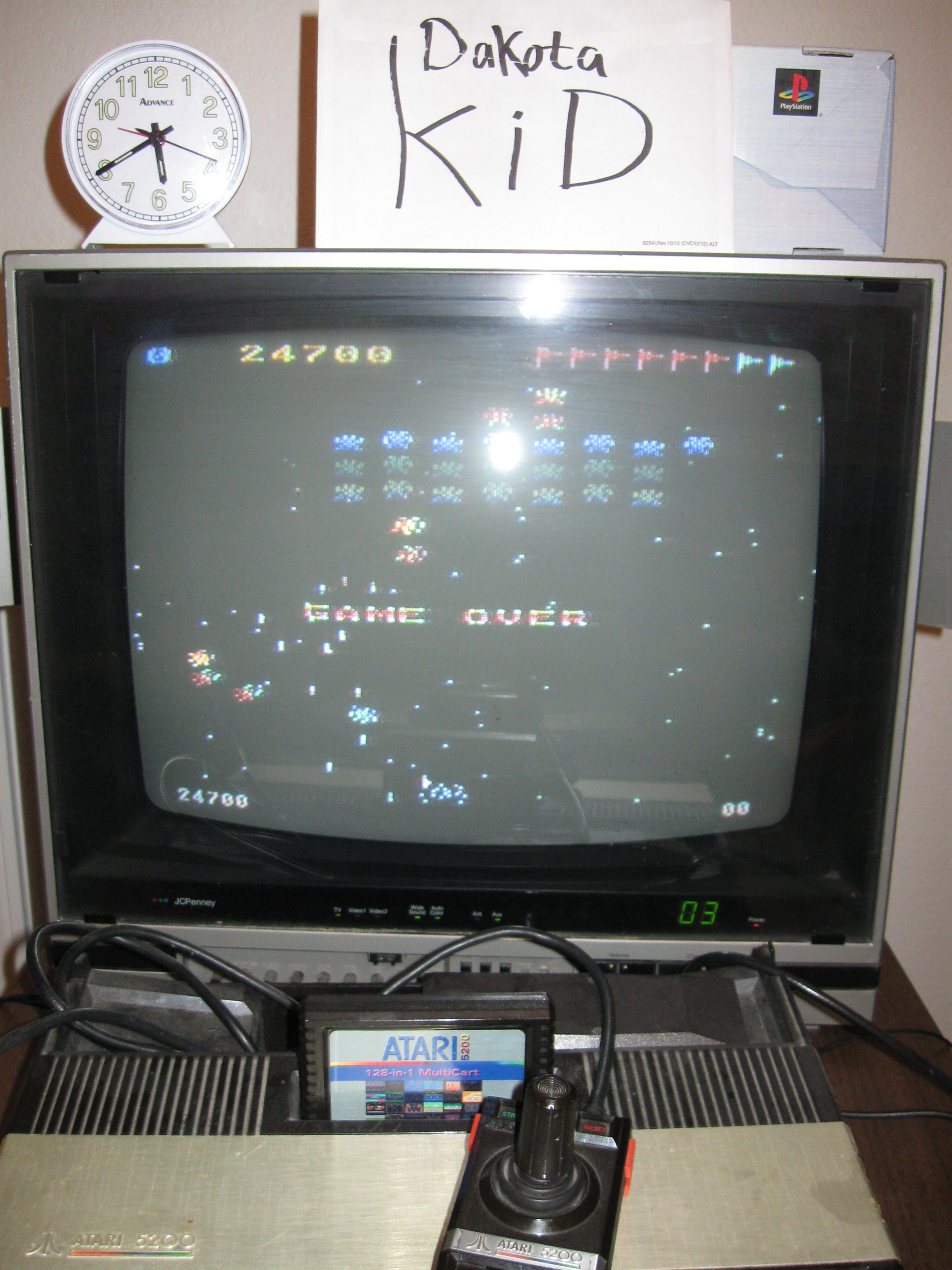 Galaxian: Skill Level 1 24,700 points