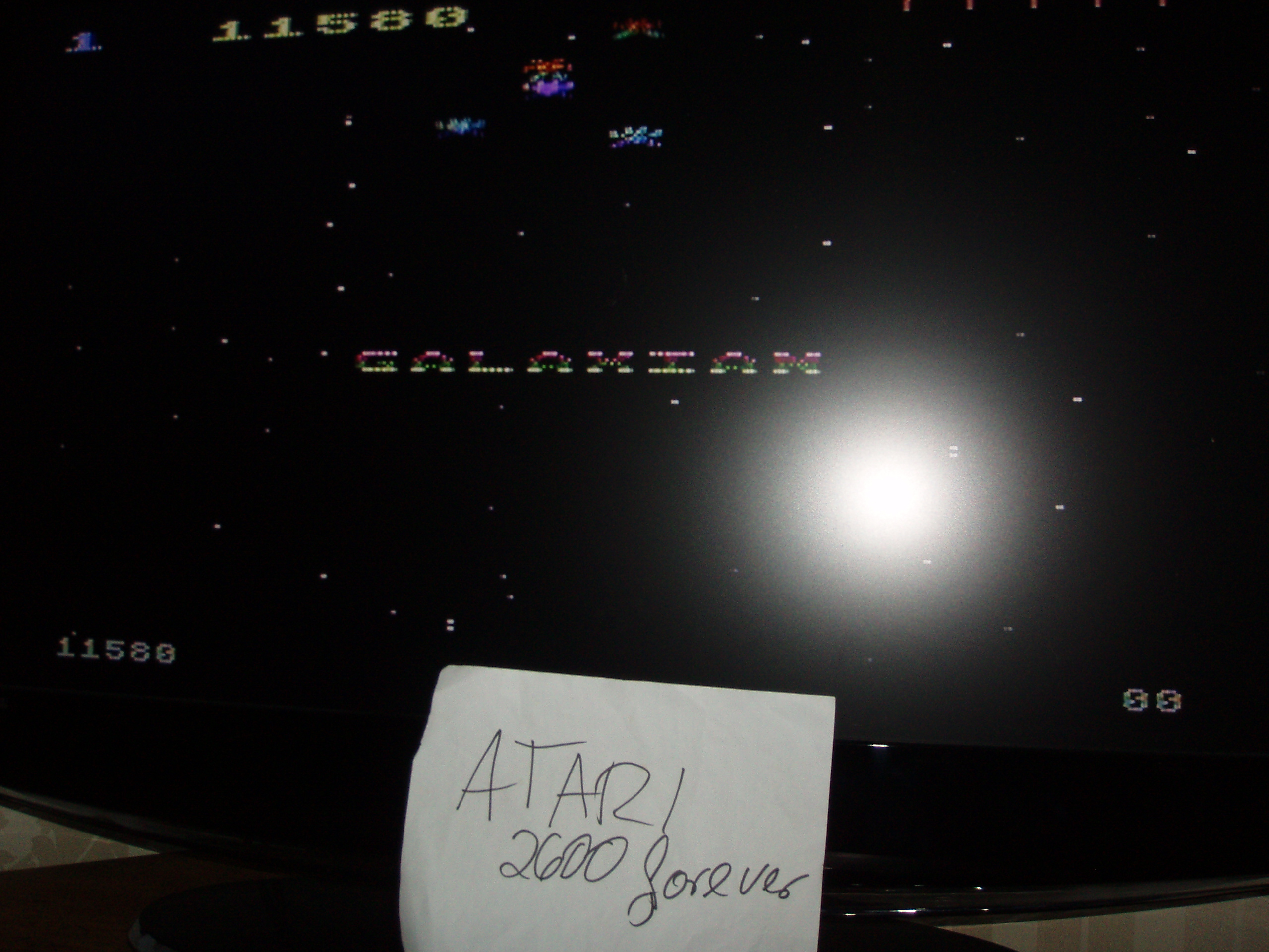 atari2600forever: Galaxian: Skill Level 1 (Atari 5200) 11,580 points on 2018-09-24 03:14:05
