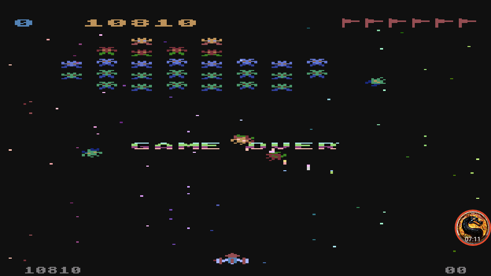 omargeddon: Galaxian: Skill Level 1 (Atari 5200 Emulated) 10,810 points on 2019-09-26 19:48:04