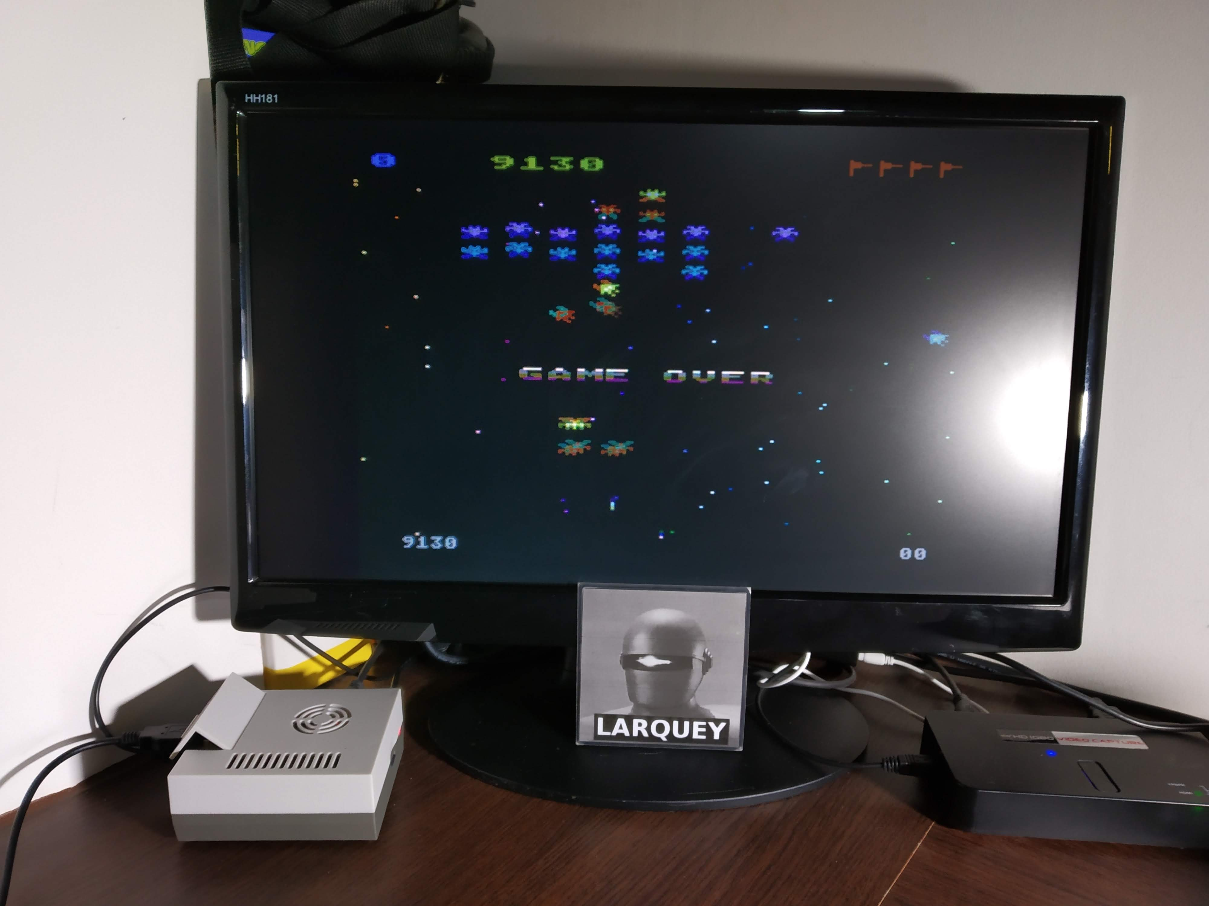 Larquey: Galaxian: Skill Level 1 (Atari 5200 Emulated) 9,130 points on 2019-11-09 03:37:06
