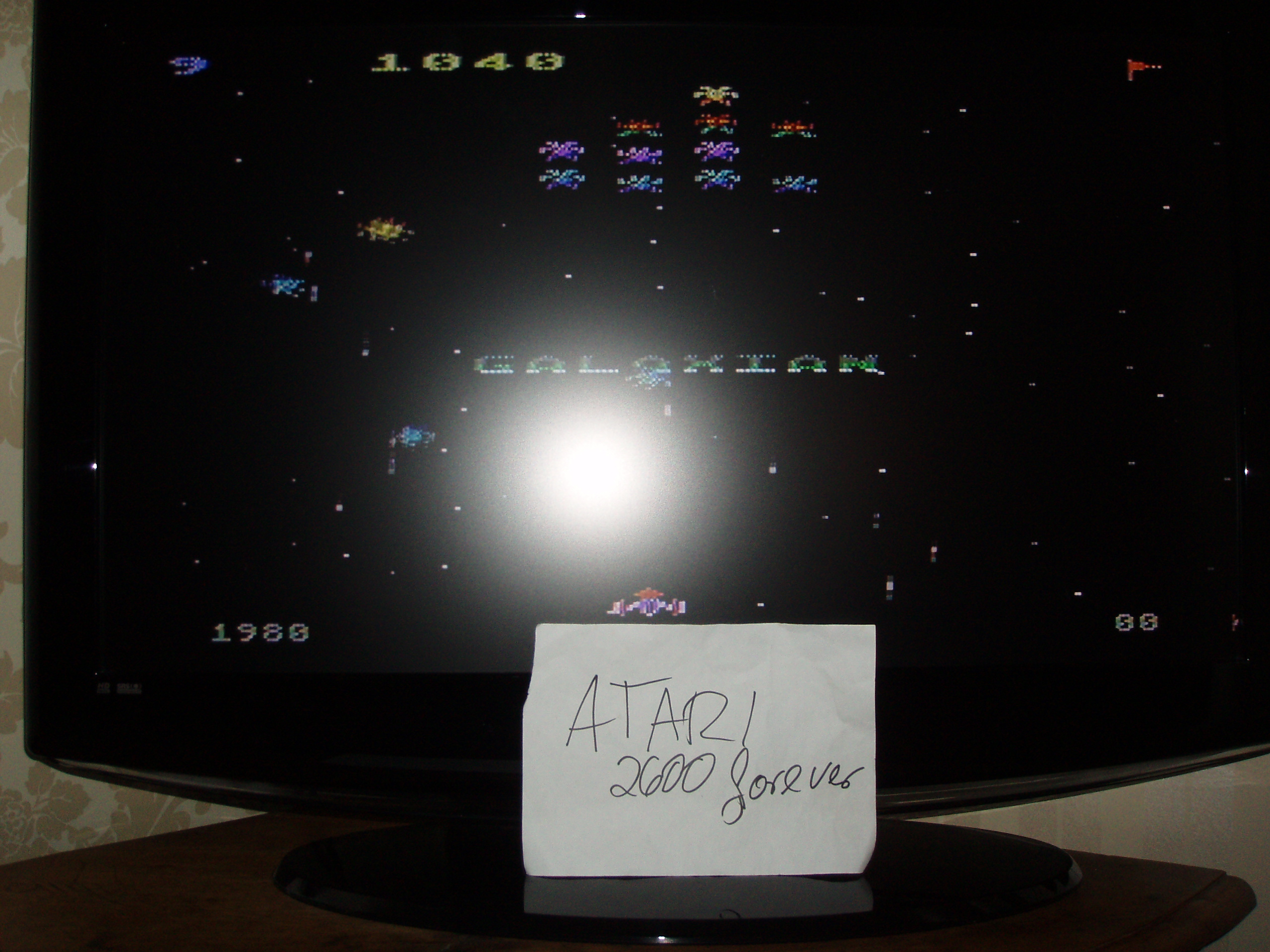 atari2600forever: Galaxian: Skill Level 9 (Atari 5200) 1,040 points on 2018-12-18 03:32:57