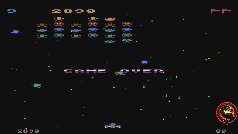 omargeddon: Galaxian: Skill Level 9 (Atari 5200 Emulated) 2,890 points on 2020-05-27 01:46:46