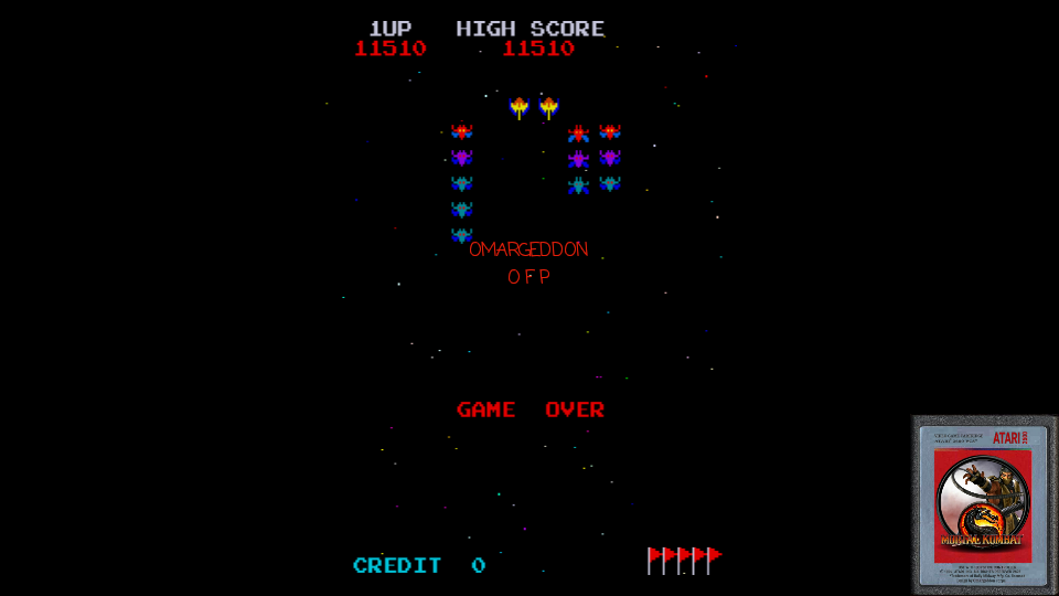 omargeddon: Galaxian Turbo [galturbo] [3 Lives Start Only] (Arcade Emulated / M.A.M.E.) 11,510 points on 2017-02-08 13:54:33