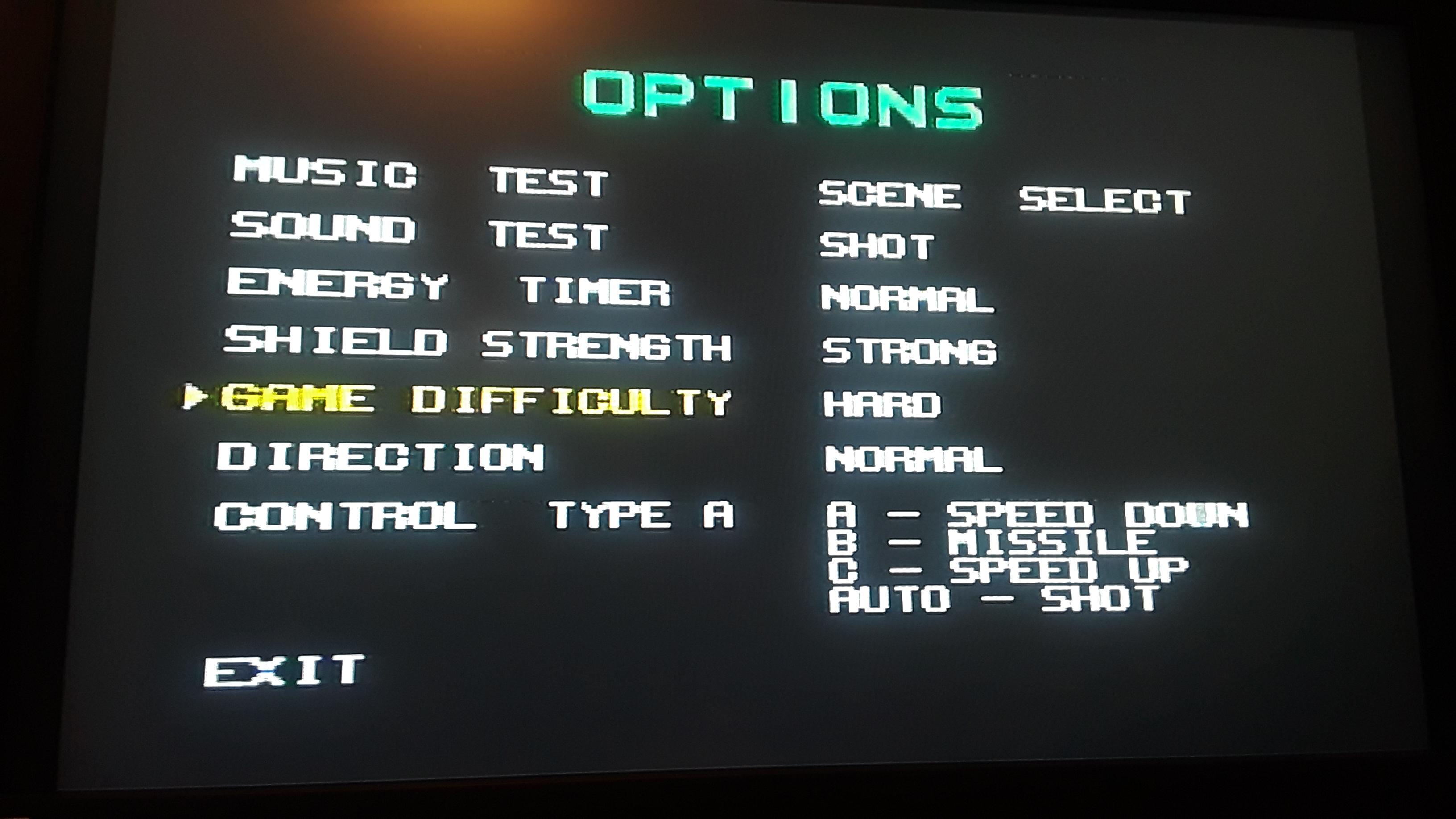 JML101582: Galaxy Force II [Hard] (Sega Genesis / MegaDrive Emulated) 337,470 points on 2019-07-22 15:02:20