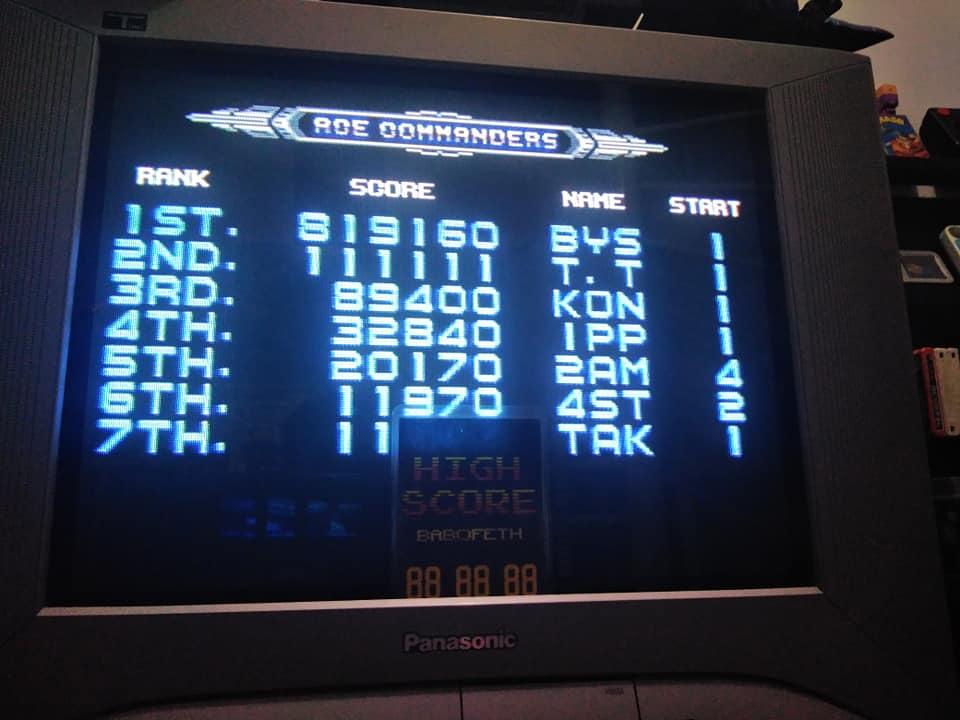 BabofetH: Galaxy Force II [Hard] (Sega Genesis / MegaDrive) 819,160 points on 2020-08-12 04:03:55