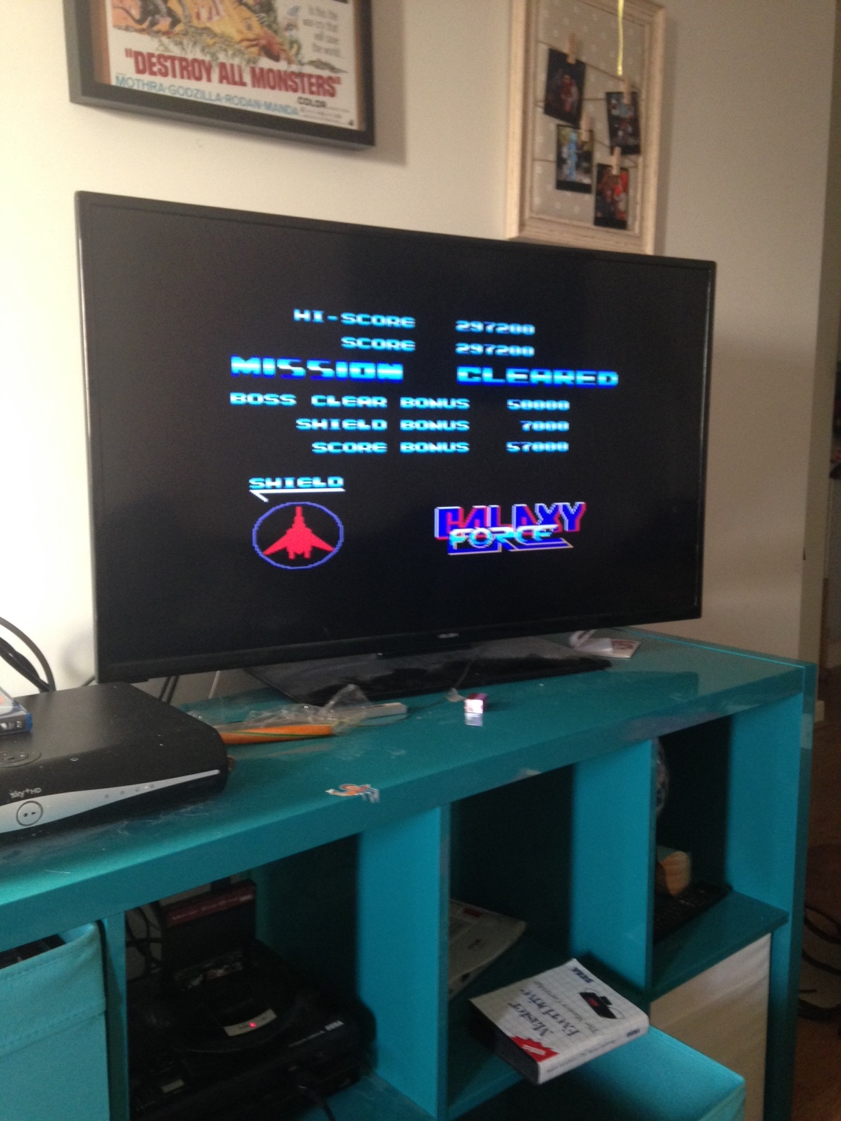 mechafatnick: Galaxy Force (Sega Master System) 297,200 points on 2015-12-29 09:37:16