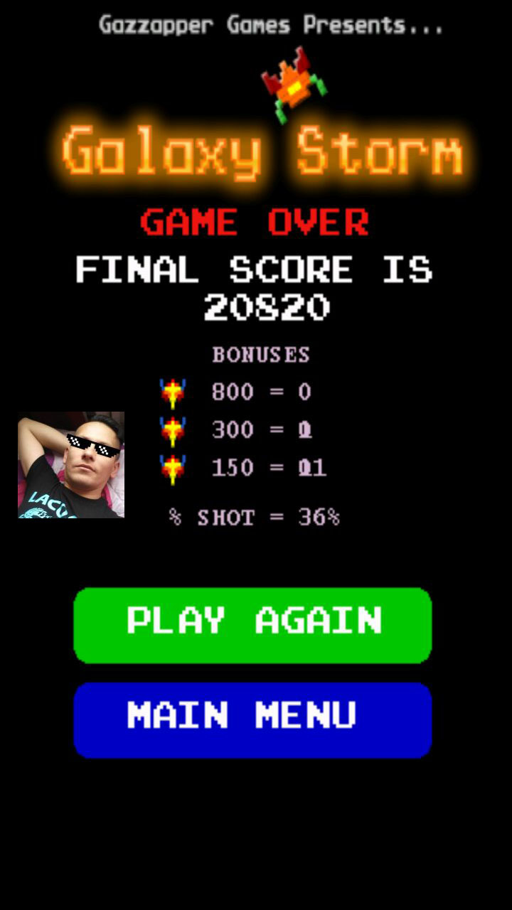 Galaxy Storm 20,820 points