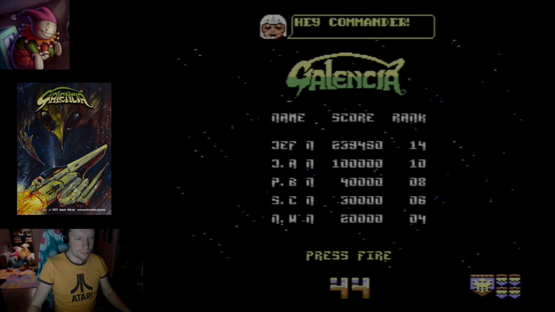 LittleJester: Galencia [Normal] (Commodore 64 Emulated) 239,450 points on 2018-02-11 15:31:07