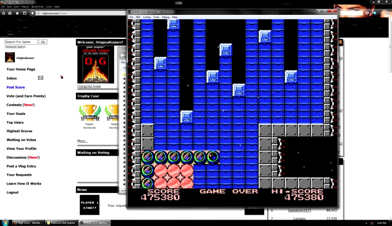 OriginalGamer: Gall Force: Eternal Story (NES/Famicom Emulated) 475,380 points on 2017-10-29 23:27:10