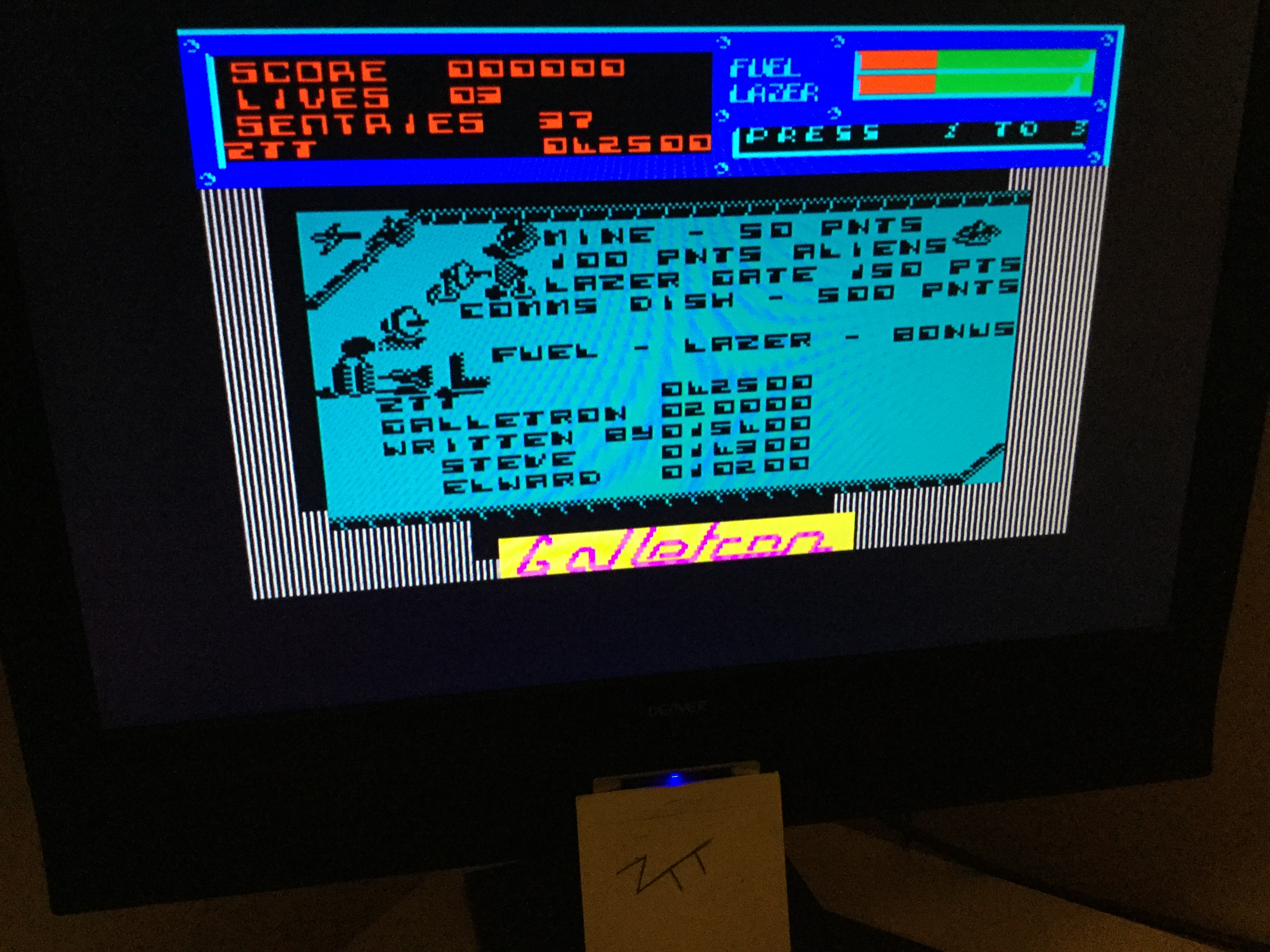 Frankie: Galletron [Level 1: Easy Peasy] (ZX Spectrum) 42,500 points on 2020-02-02 06:48:40