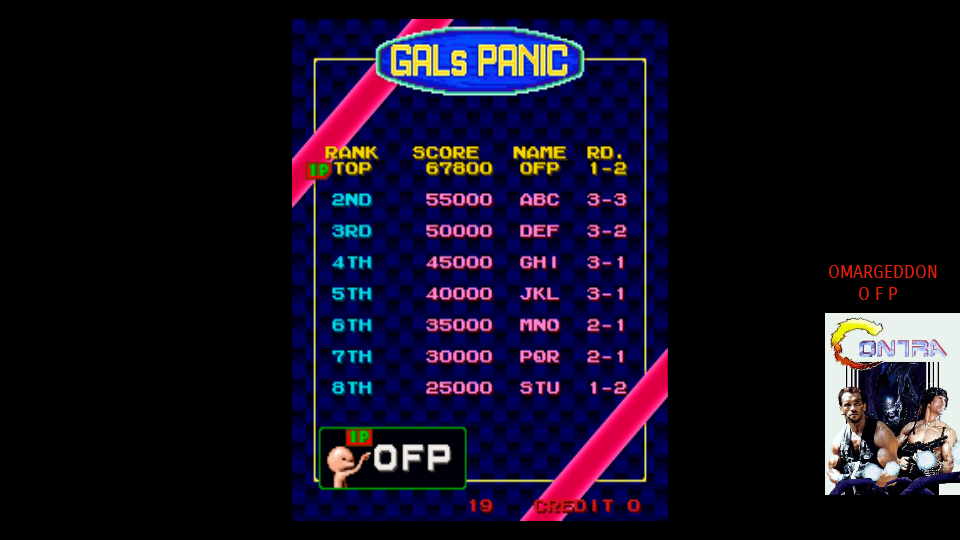 omargeddon: Gals Panic [galpanic] (Arcade Emulated / M.A.M.E.) 67,800 points on 2017-09-17 02:39:13