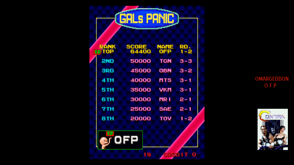 omargeddon: Gals Panic [galsnew] (Arcade Emulated / M.A.M.E.) 64,400 points on 2017-09-17 00:01:58