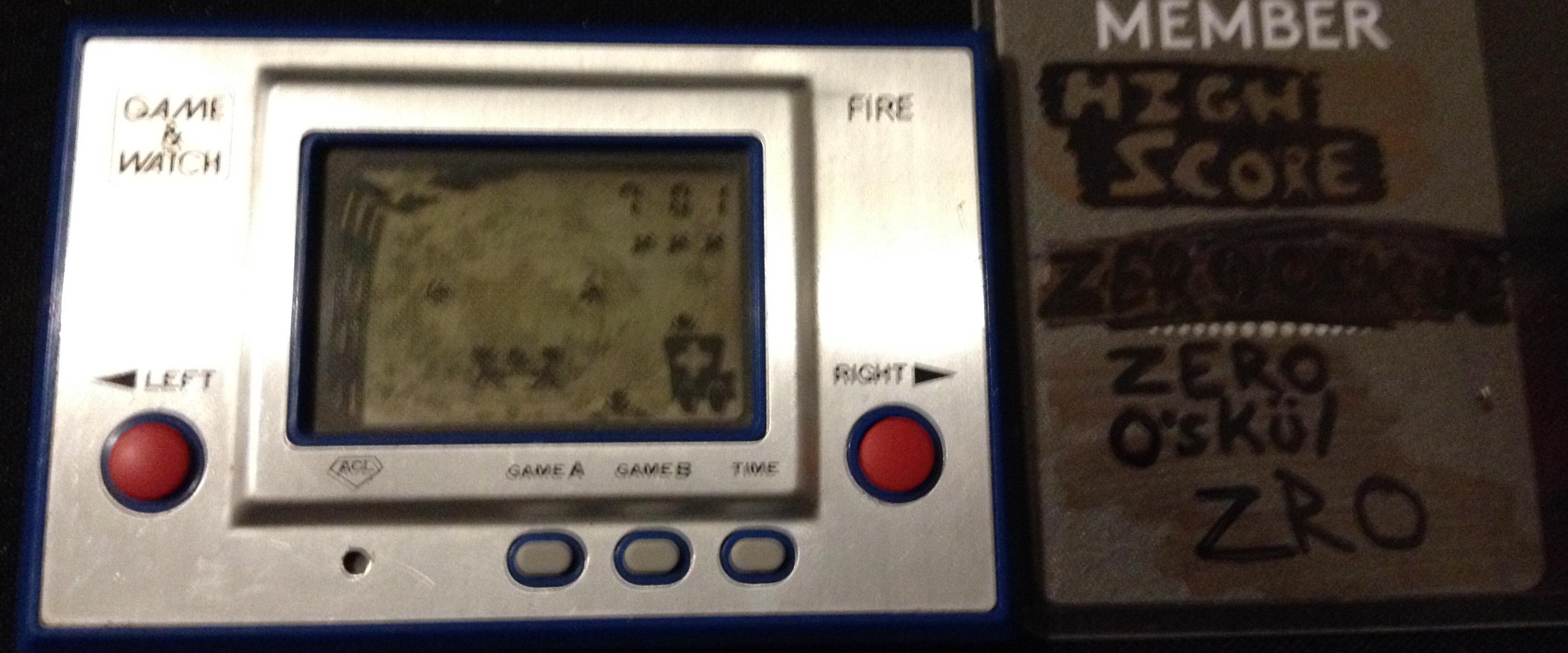 Game & Watch: Fire [aka Fireman Fireman] [Game A] 701 points