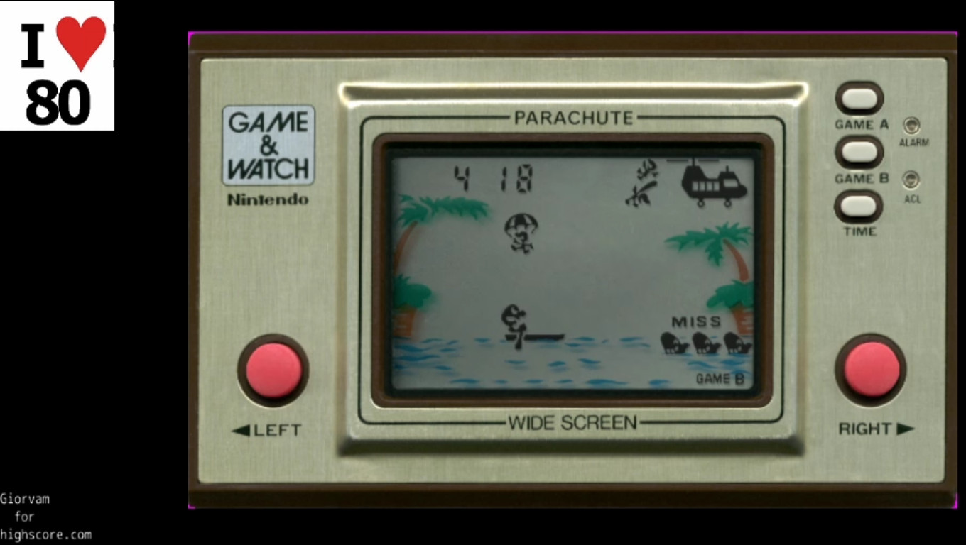 Giorvam: Game & Watch: Parachute [Game B] (Dedicated Handheld Emulated) 418 points on 2019-12-26 05:49:42