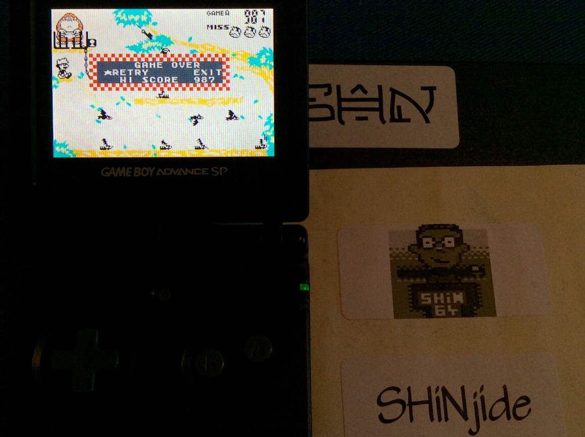 SHiNjide: Game & Watch Gallery 4: Donkey Kong Jr. [Classic: Easy] (GBA) 987 points on 2015-07-29 12:59:29