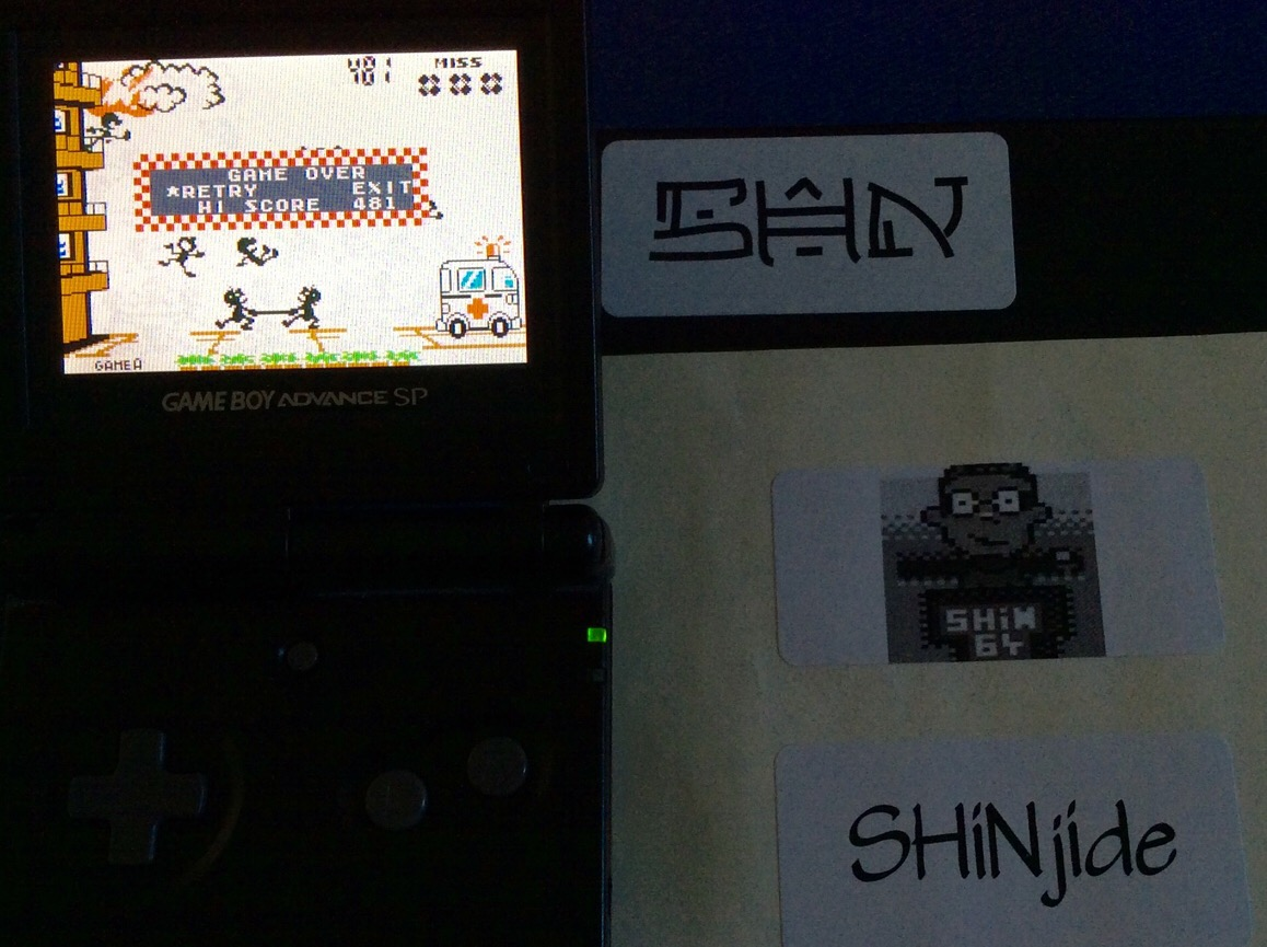 SHiNjide: Game & Watch Gallery 4: Fire [Classic: Easy] (GBA) 481 points on 2015-07-30 12:26:21