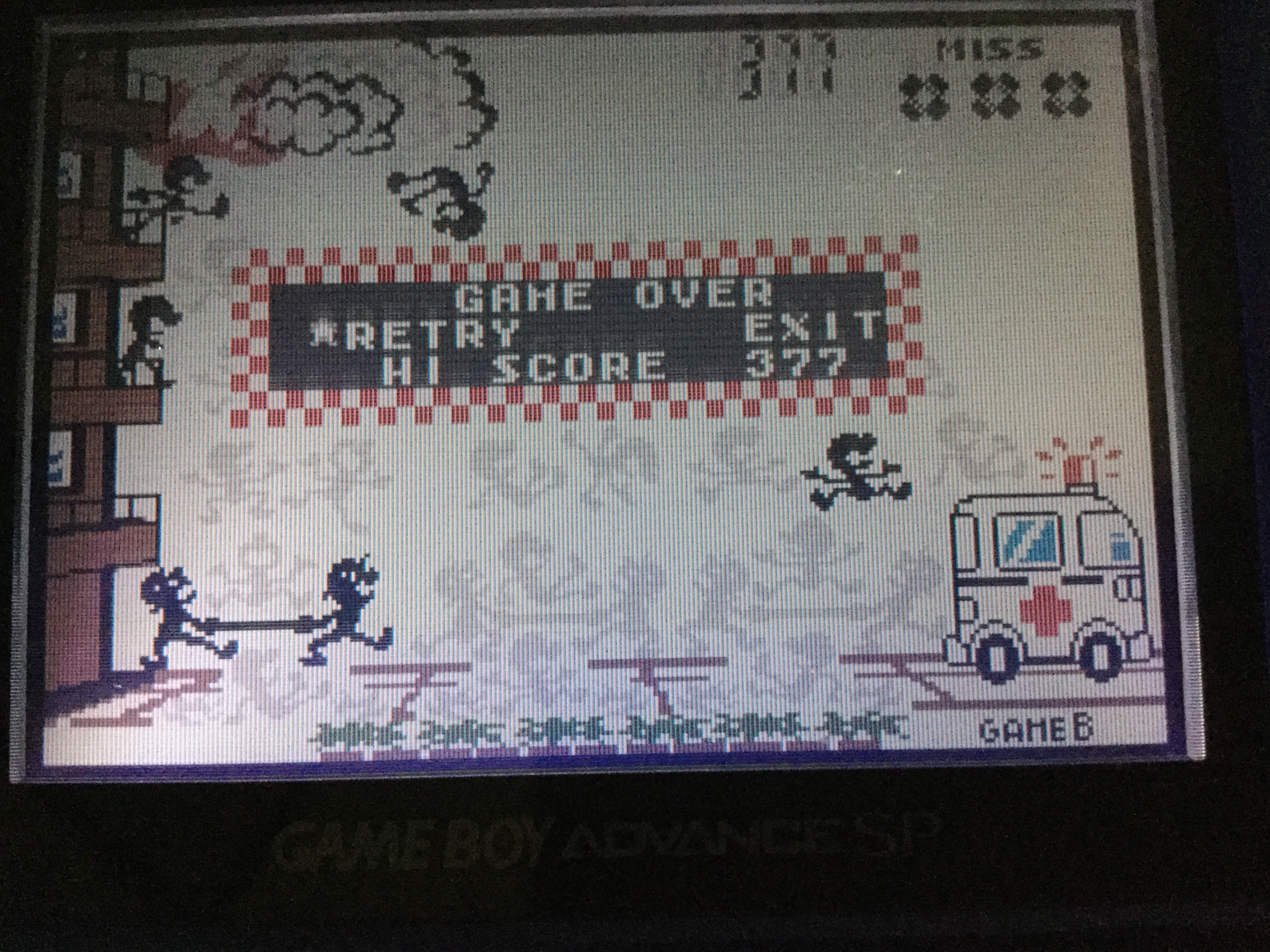 Frankie: Game & Watch Gallery 4: Fire [Classic: Hard] (GBA) 377 points on 2018-04-28 13:46:41