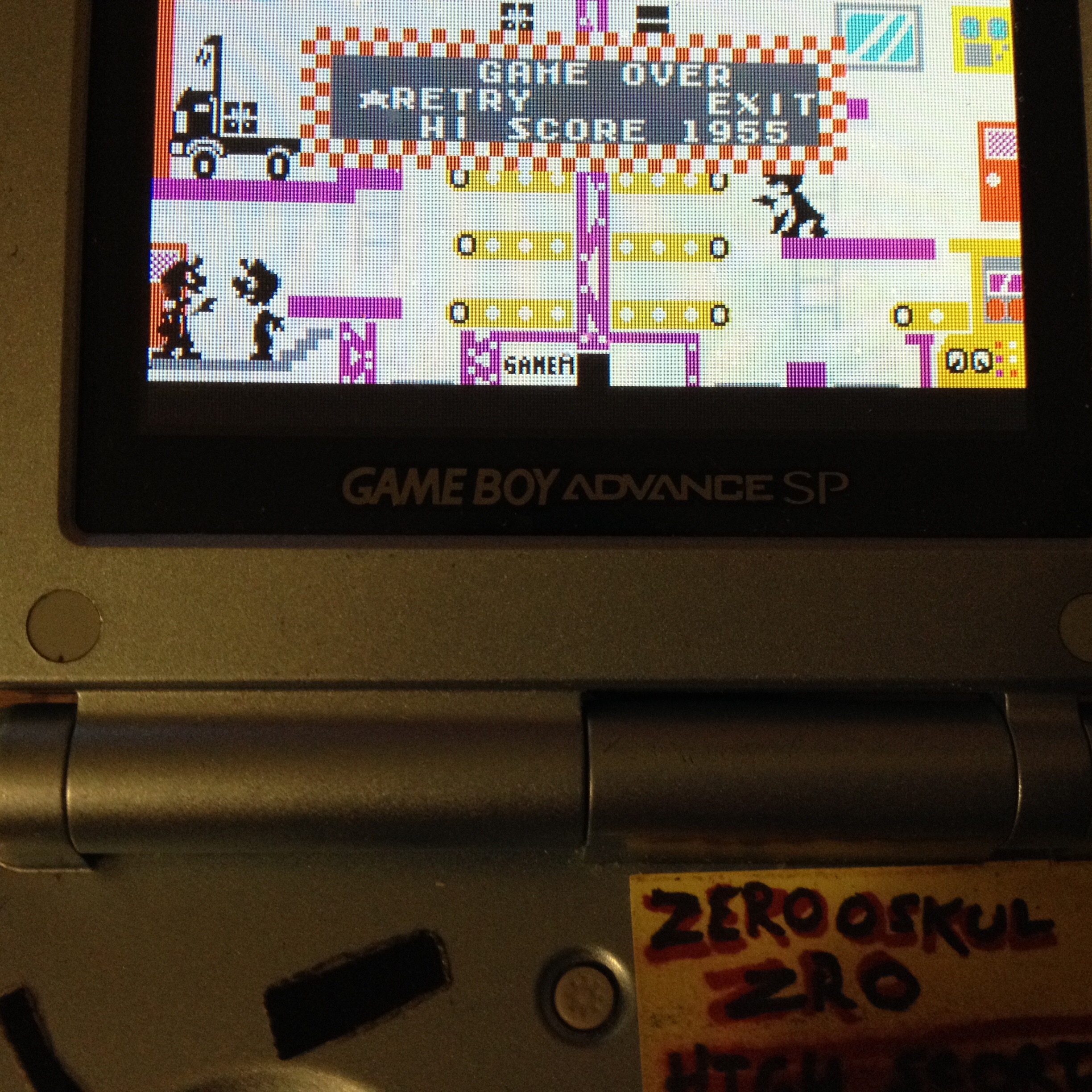 zerooskul: Game & Watch Gallery 4: Mario Bros [Classic: Easy] (GBA) 1,955 points on 2019-08-09 19:37:25