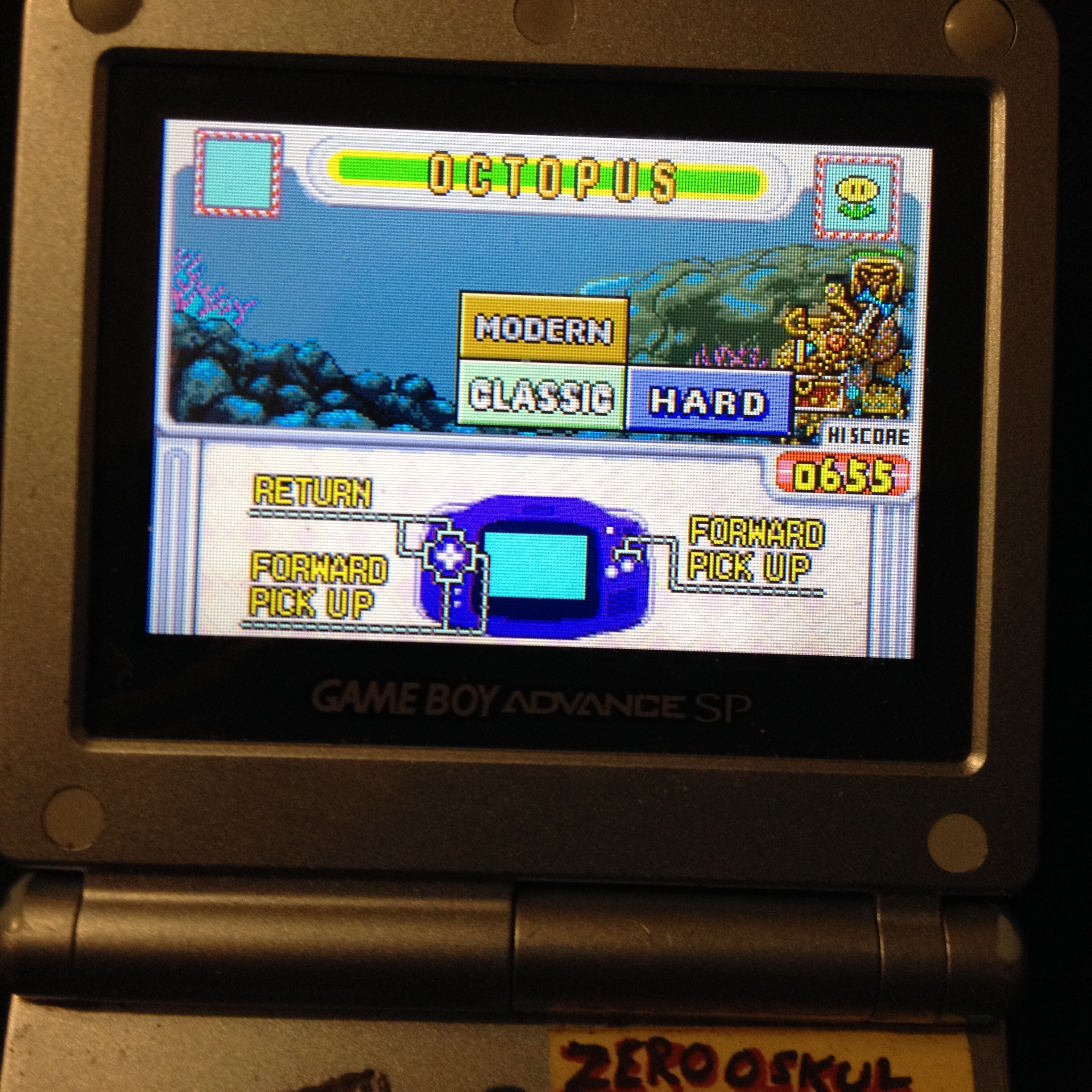 zerooskul: Game & Watch Gallery 4: Octopus [Classic: Hard] (GBA) 655 points on 2019-12-08 19:42:18