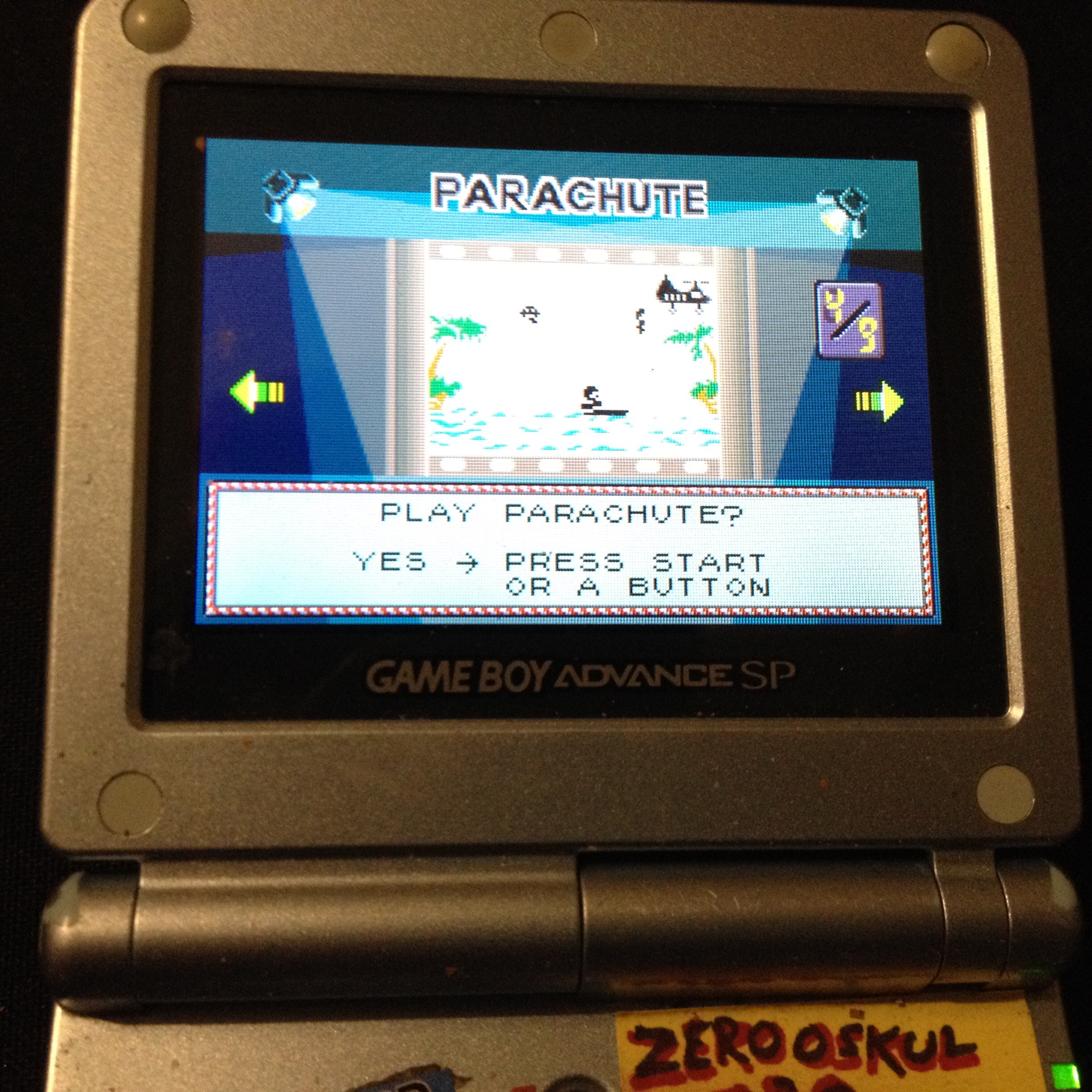 zerooskul: Game & Watch Gallery 4: Parachute [Classic: Easy] (GBA) 1,078 points on 2020-01-14 21:39:09