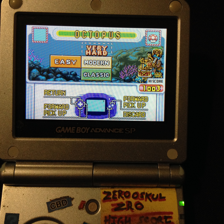 zerooskul: Game & Watch Gallery 4: Octopus [Modern: Easy] (GBA) 1,003 points on 2020-02-26 22:51:20