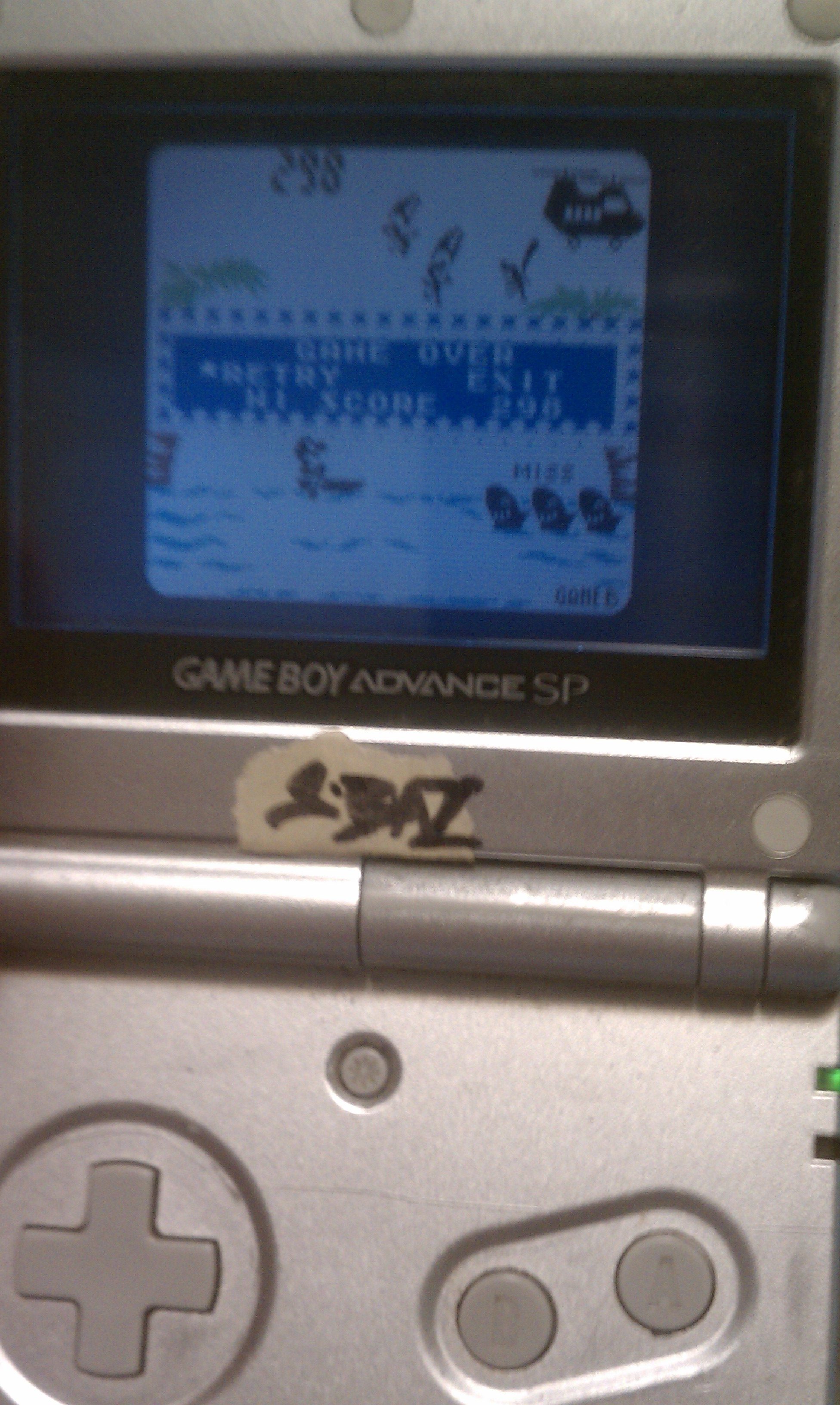 S.BAZ: Game & Watch Gallery 2: Parachute: Classic: Hard (Game Boy Color) 298 points on 2016-06-26 03:22:31