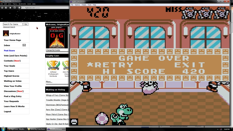OriginalGamer: Game & Watch Gallery 2: Chef: Modern: Easy (Game Boy Color Emulated) 420 points on 2016-07-08 02:11:24