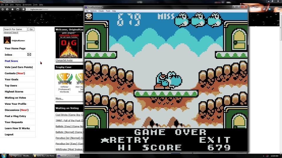 OriginalGamer: Game & Watch Gallery 3: Egg: Modern: Hard (Game Boy Color Emulated) 679 points on 2016-07-15 16:10:52