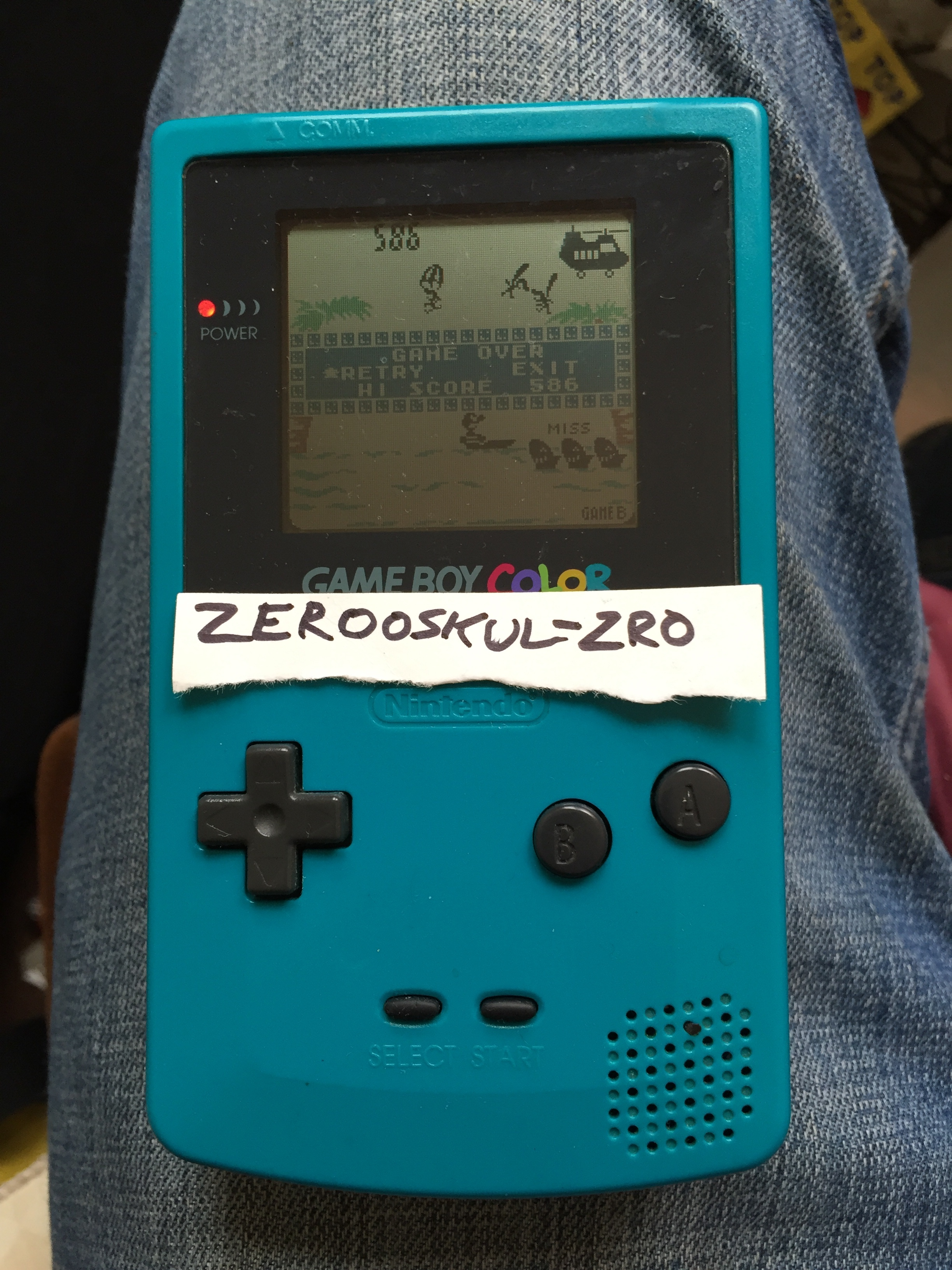 zerooskul: Game & Watch Gallery 2: Parachute: Classic: Hard (Game Boy Color) 586 points on 2018-07-22 11:25:11