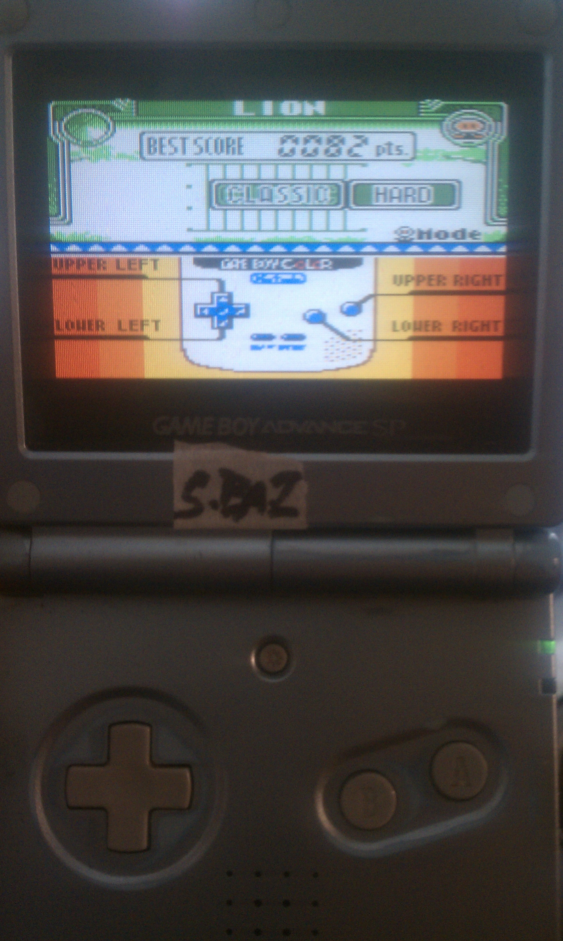 S.BAZ: Game & Watch Gallery 3: Lion [Classic: Hard] (Game Boy Color) 82 points on 2018-08-24 14:41:28